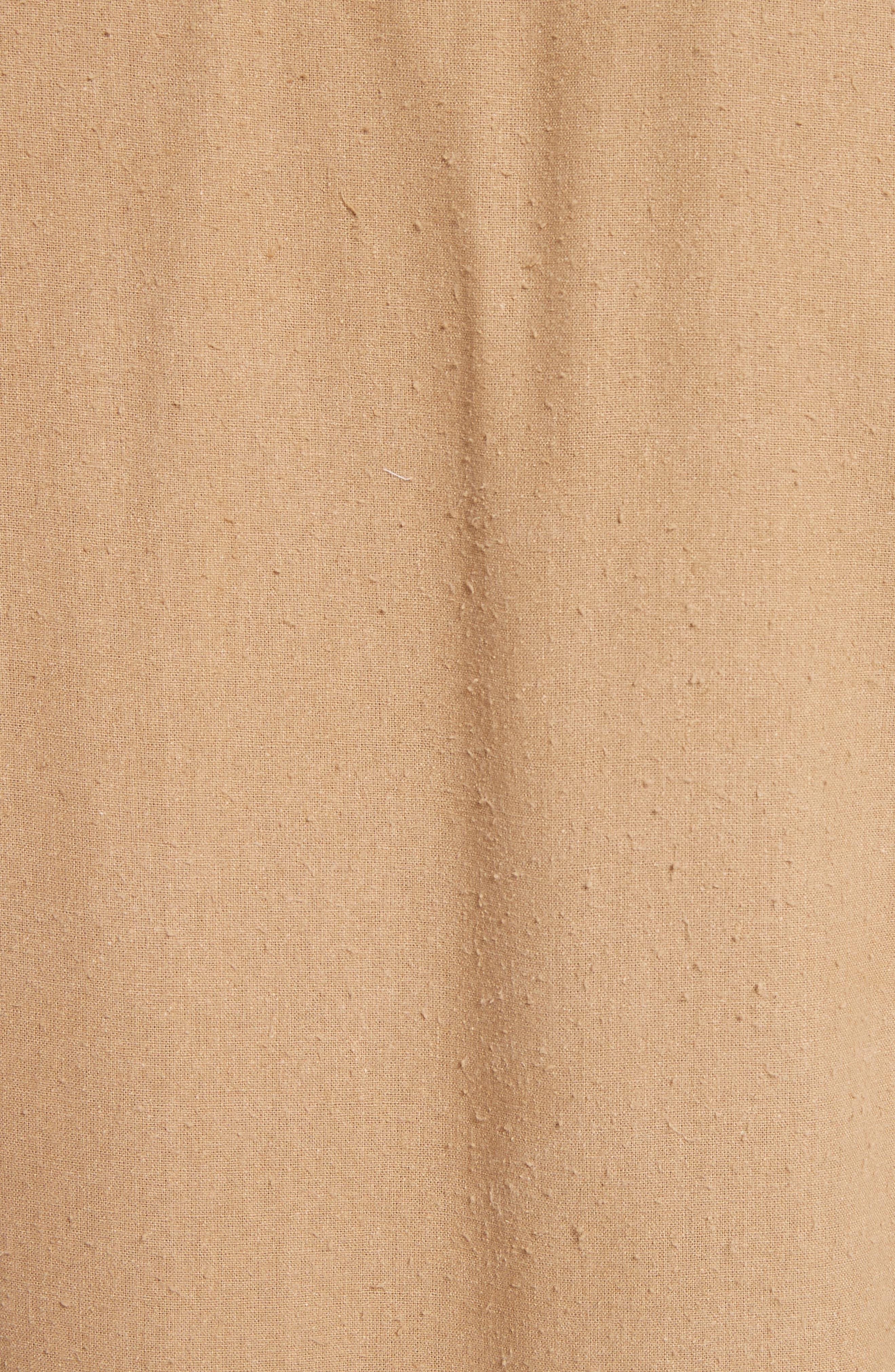 Regular Fit Silk Noil Sport Shirt,                             Alternate thumbnail 5, color,                             Tan