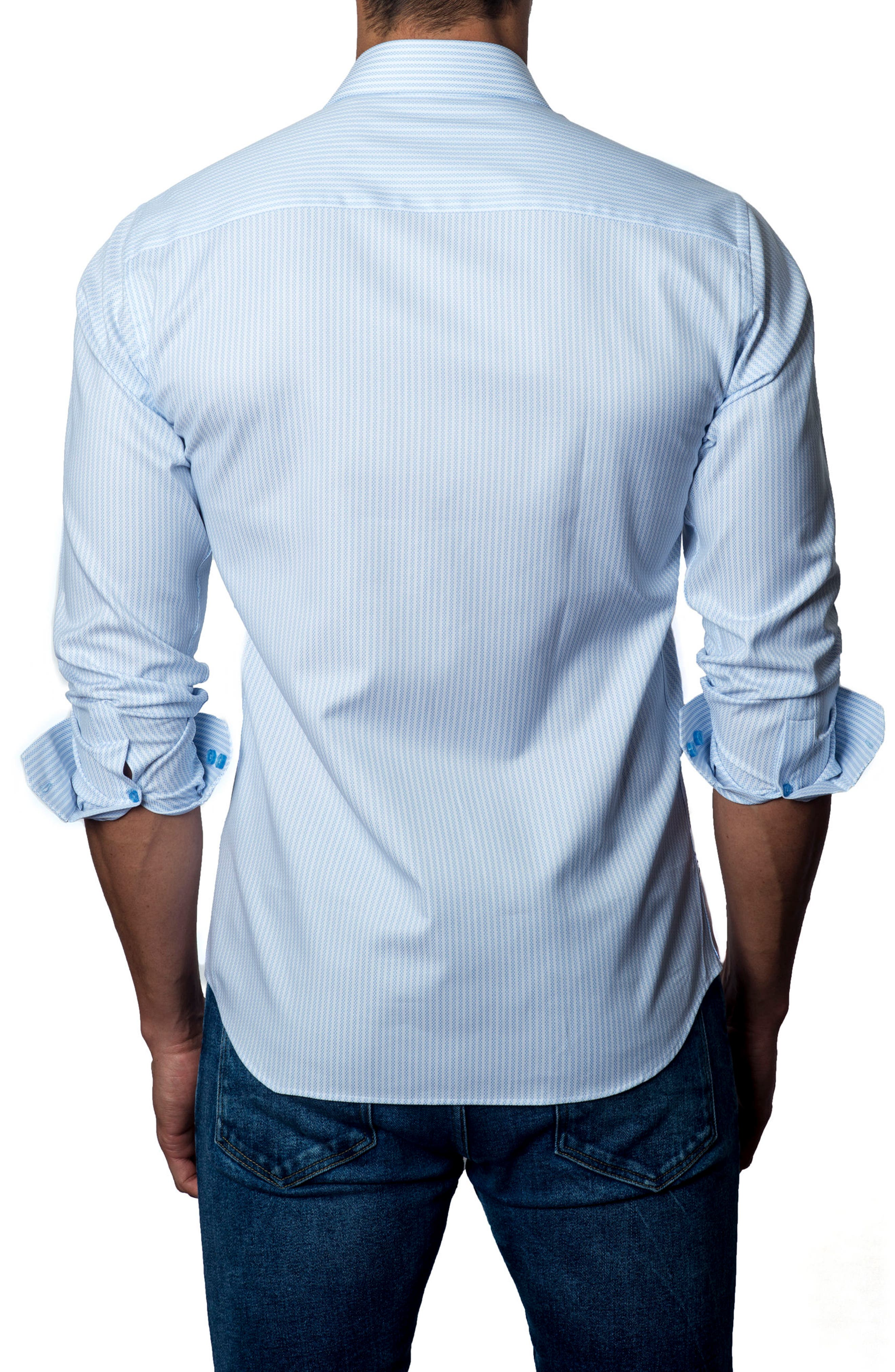 Alternate Image 2  - Jared Lang Stripe Sport Shirt