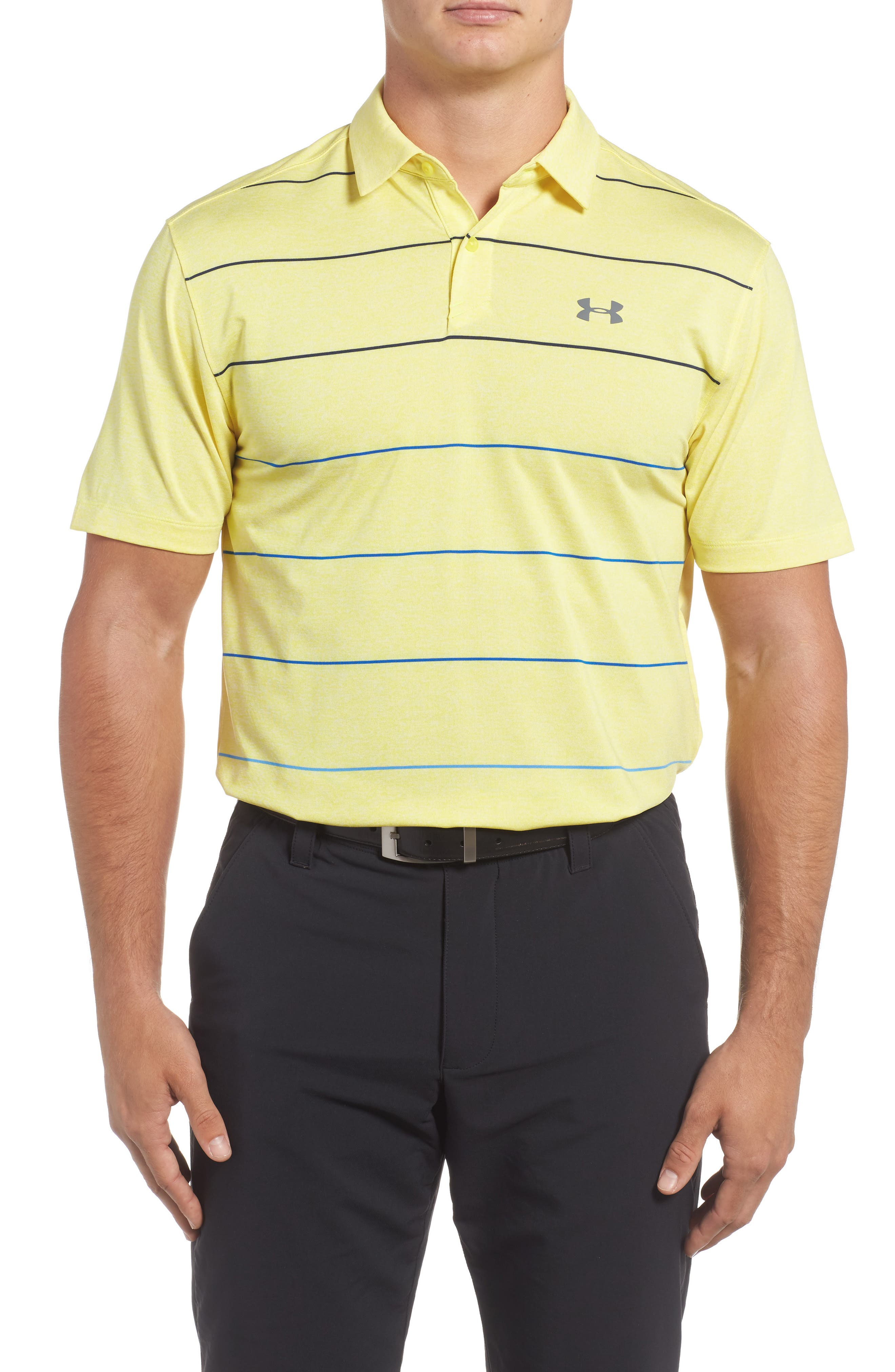 CoolSwitch Regular Fit Polo,                         Main,                         color, Tokyo Lemon / Steel