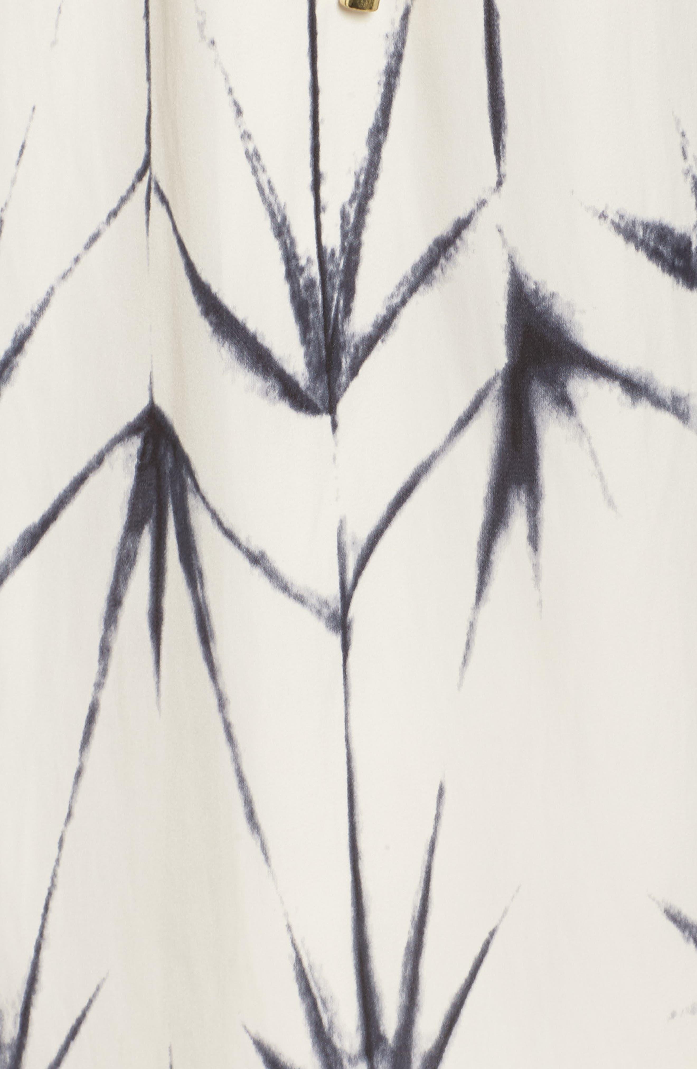 Calla Blouson Dress,                             Alternate thumbnail 5, color,                             Folded Shibori