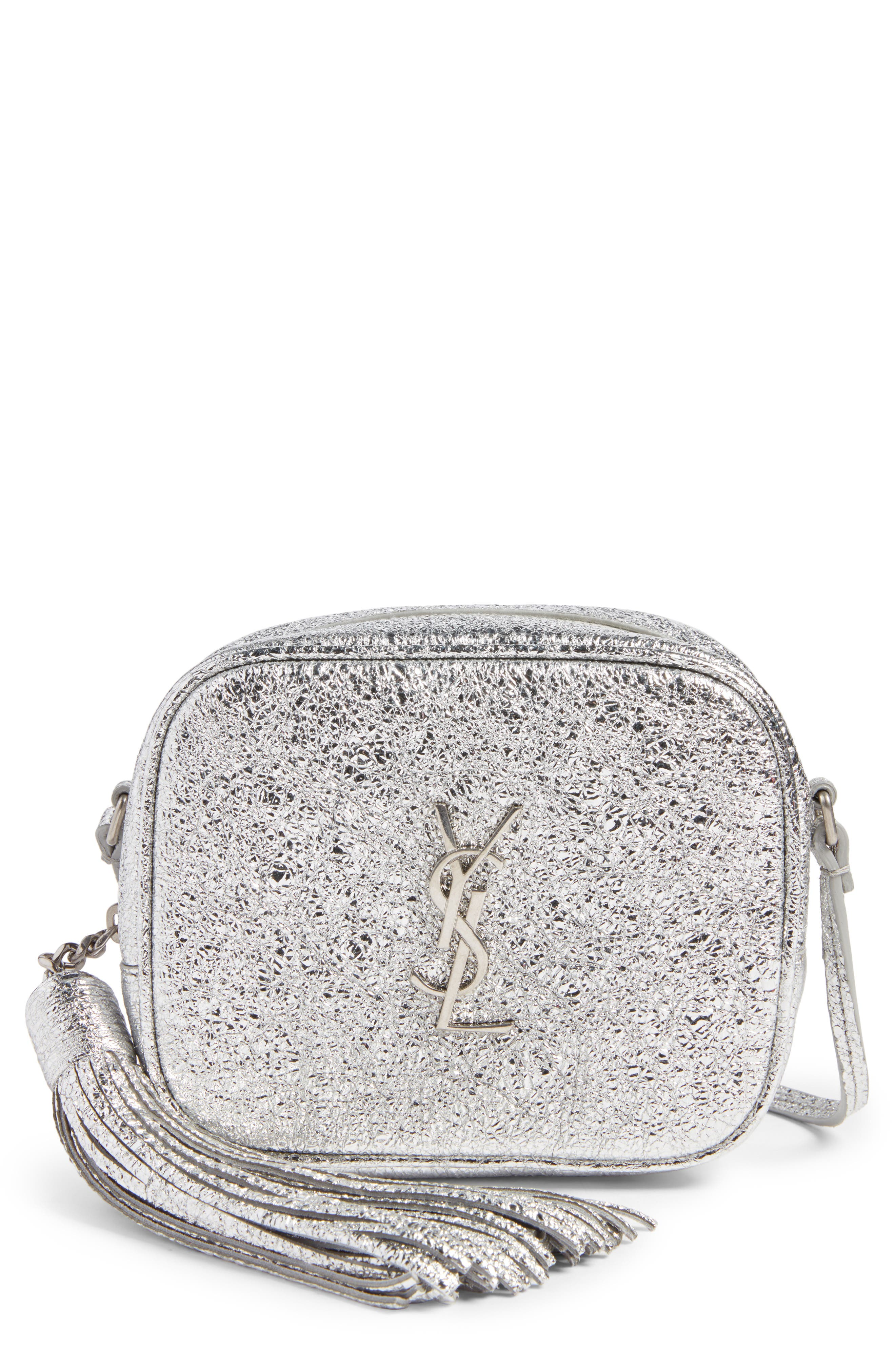 Main Image - Saint Laurent Monogram Blogger Calfskin Crossbody Bag