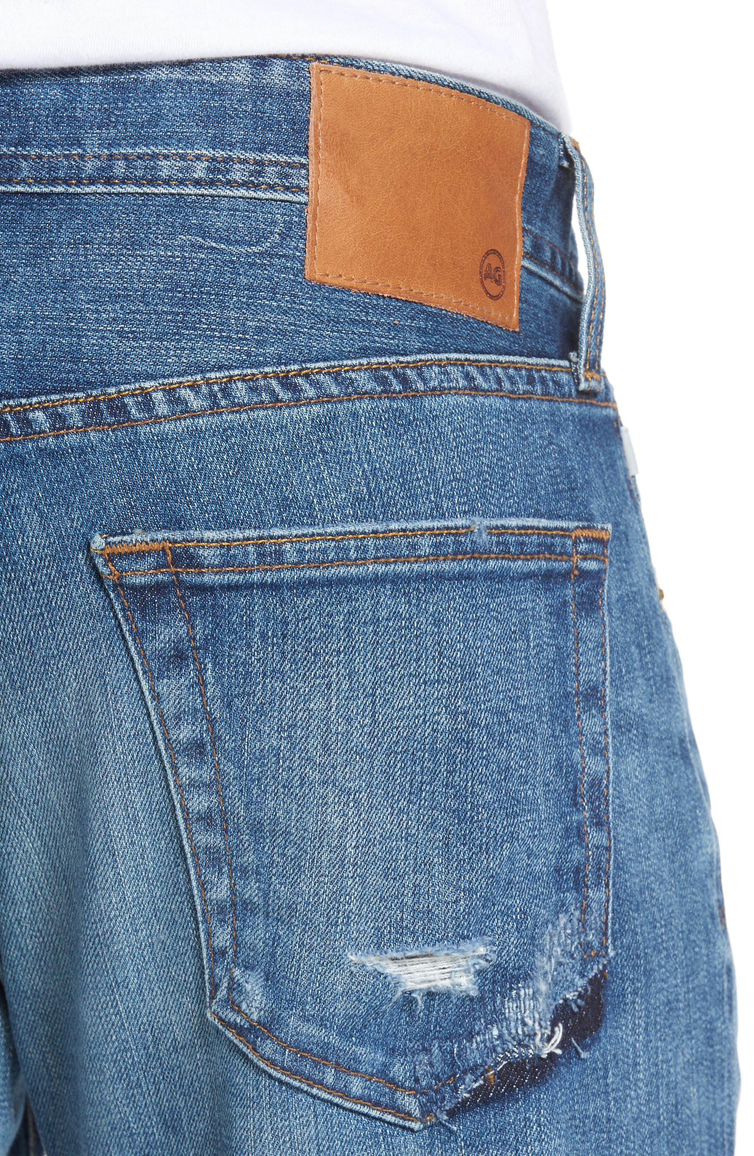 Alternate Image 4  - AG Tellis Slim FIt Jeans (16 Years Rave Mended)