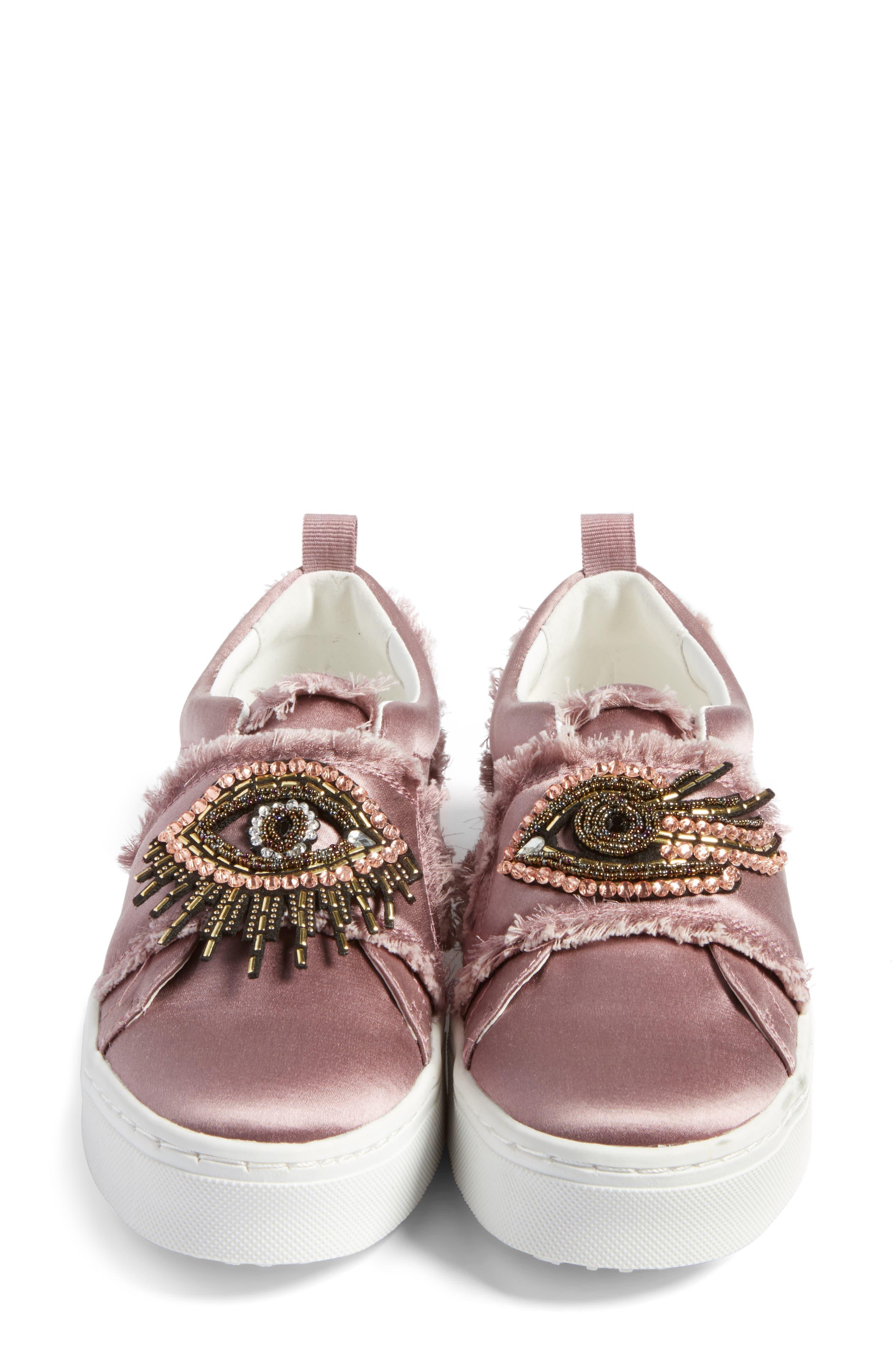 Levine Sneaker,                             Alternate thumbnail 4, color,                             Pearl Pink Satin