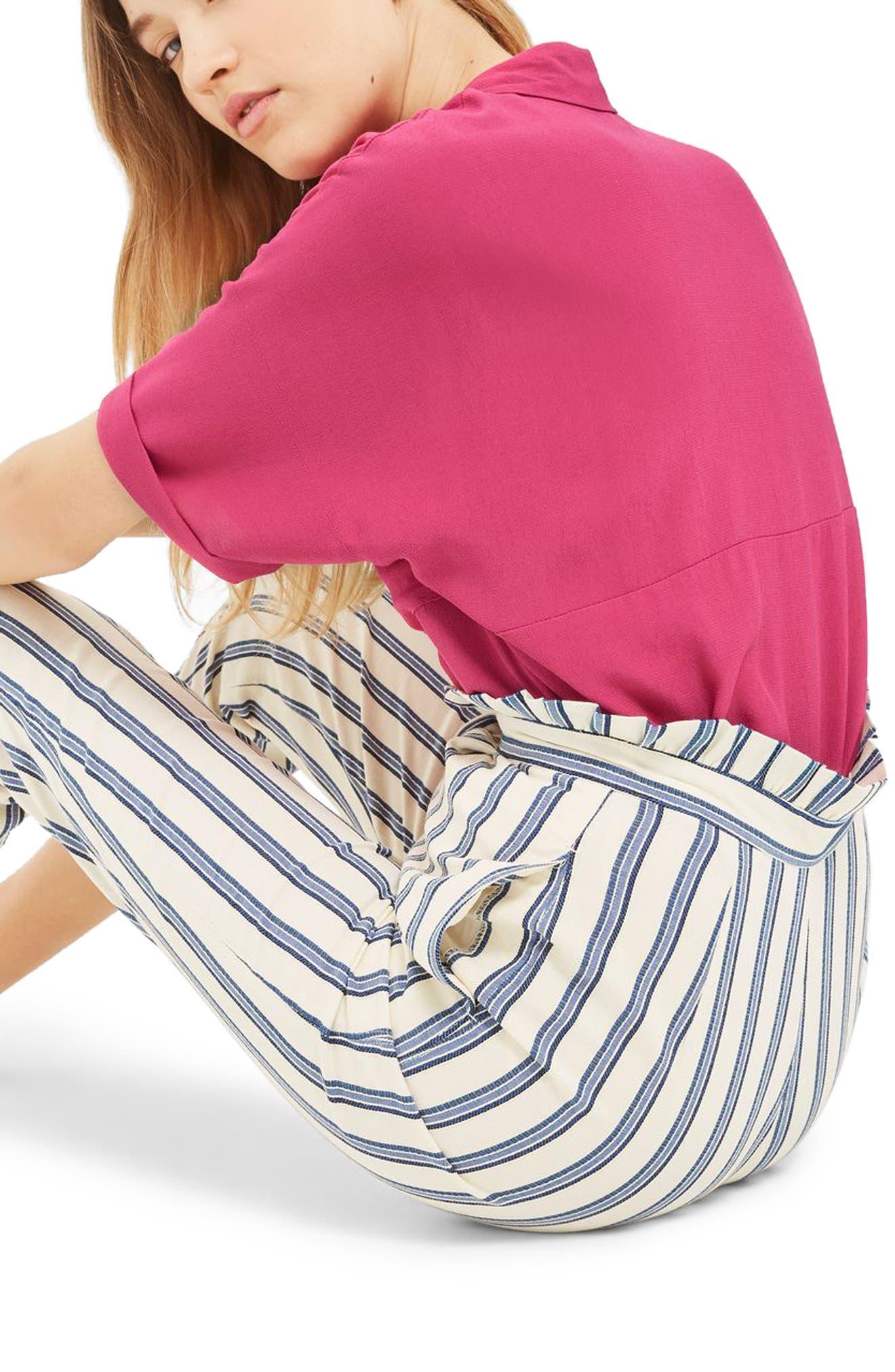Alternate Image 2  - Topshop Kady Roll Sleeve Shirt
