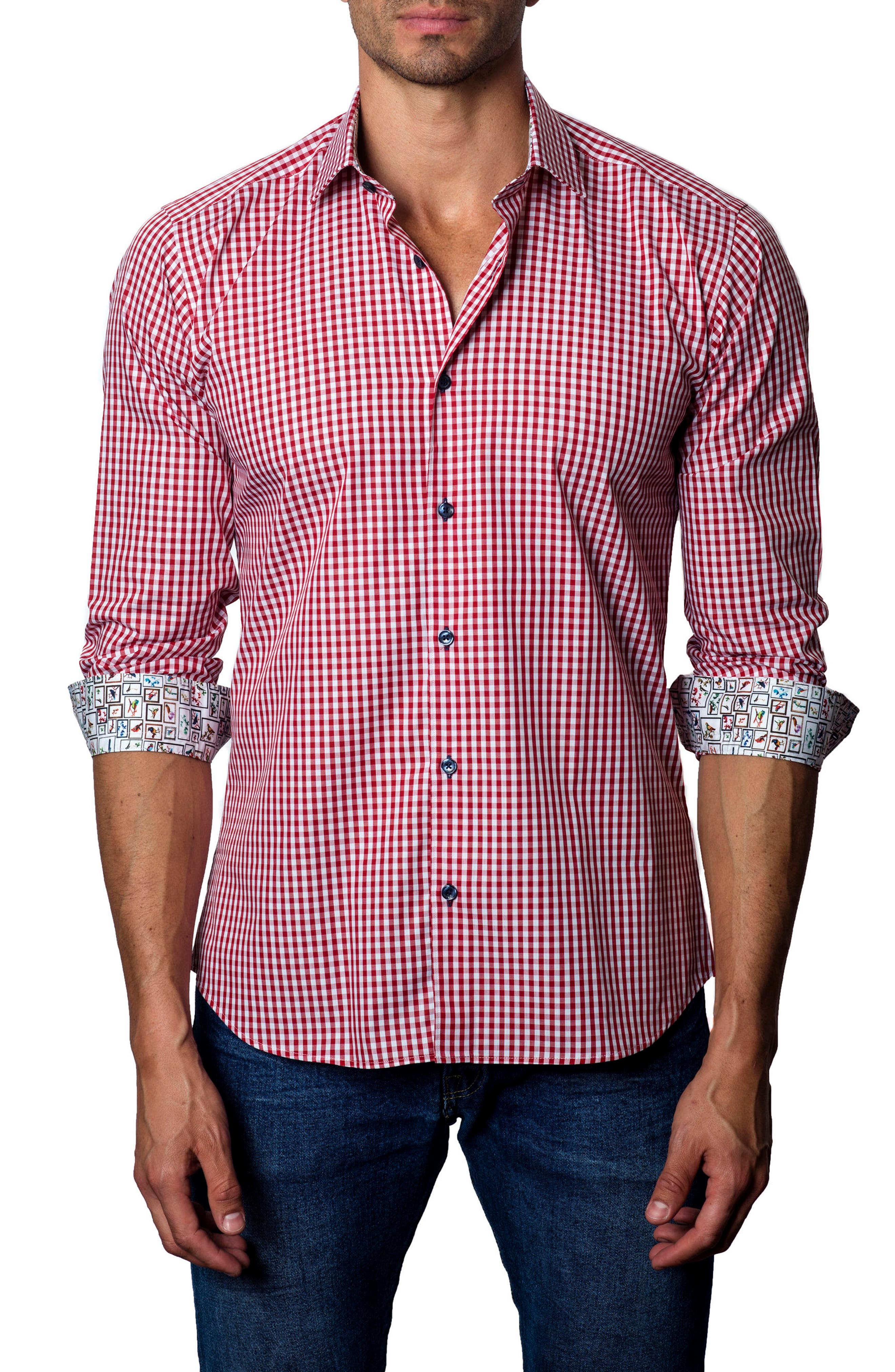 Alternate Image 1 Selected - Jared Lang Gingham Check Sport Shirt