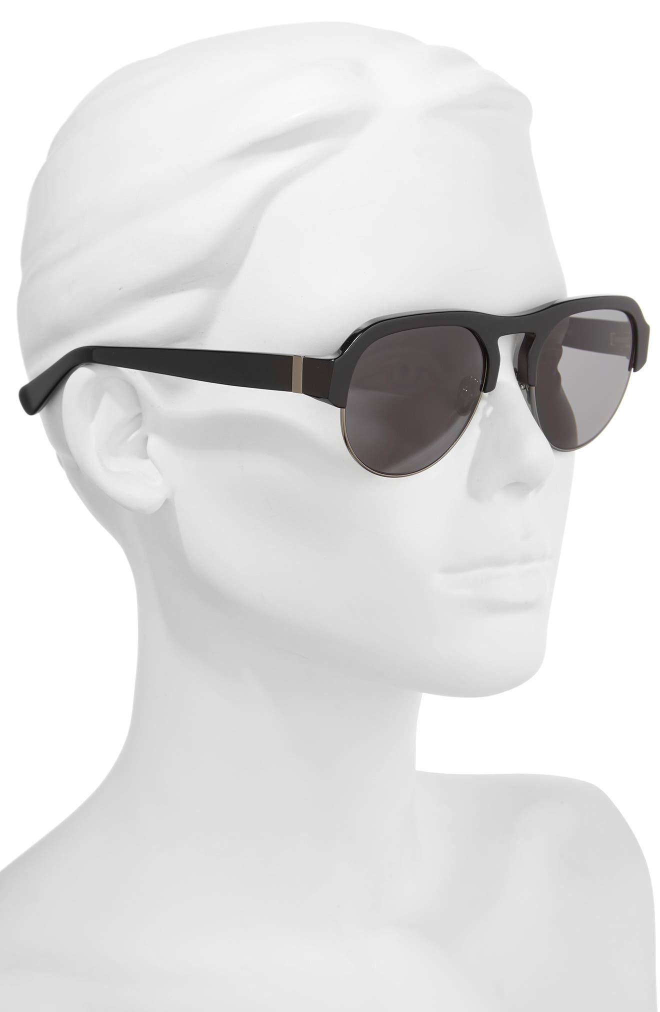 Nomad 52mm Sunglasses,                             Alternate thumbnail 2, color,                             Black/ Gunmetal