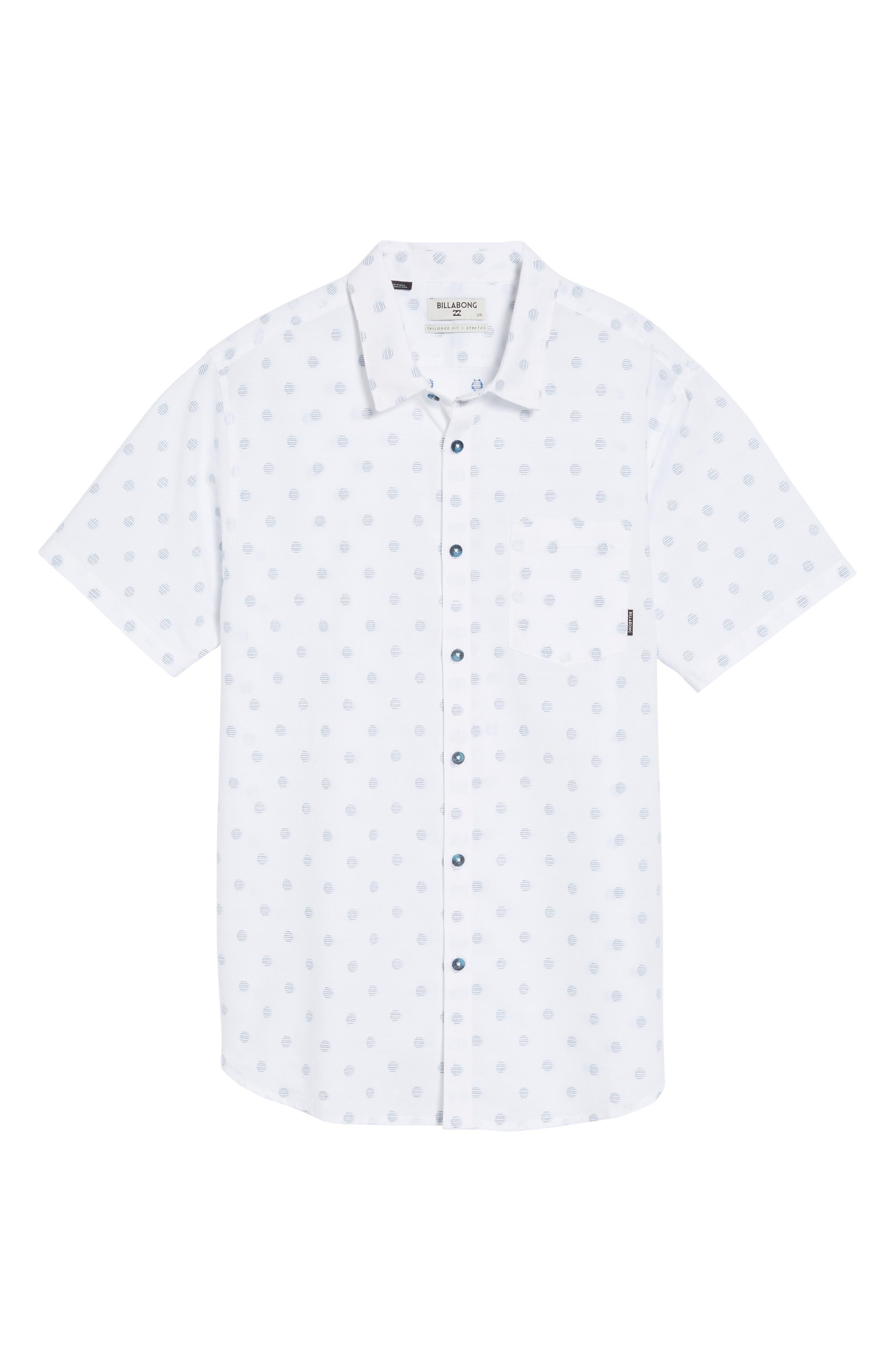 Cruisin Dobby Woven Shirt,                             Alternate thumbnail 6, color,                             White