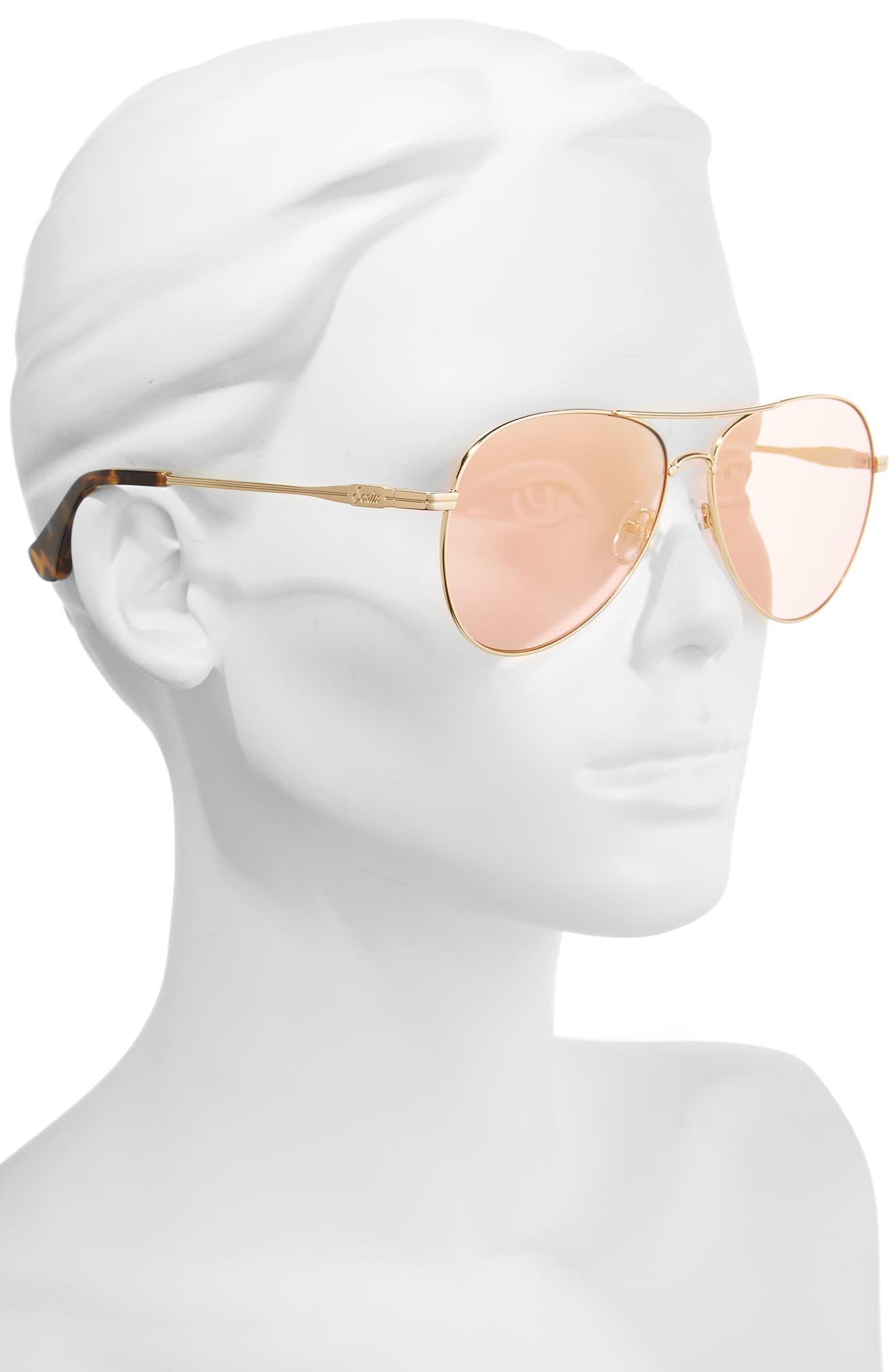 Alternate Image 4  - Sonix Lodi 61mm Mirrored Aviator Sunglasses
