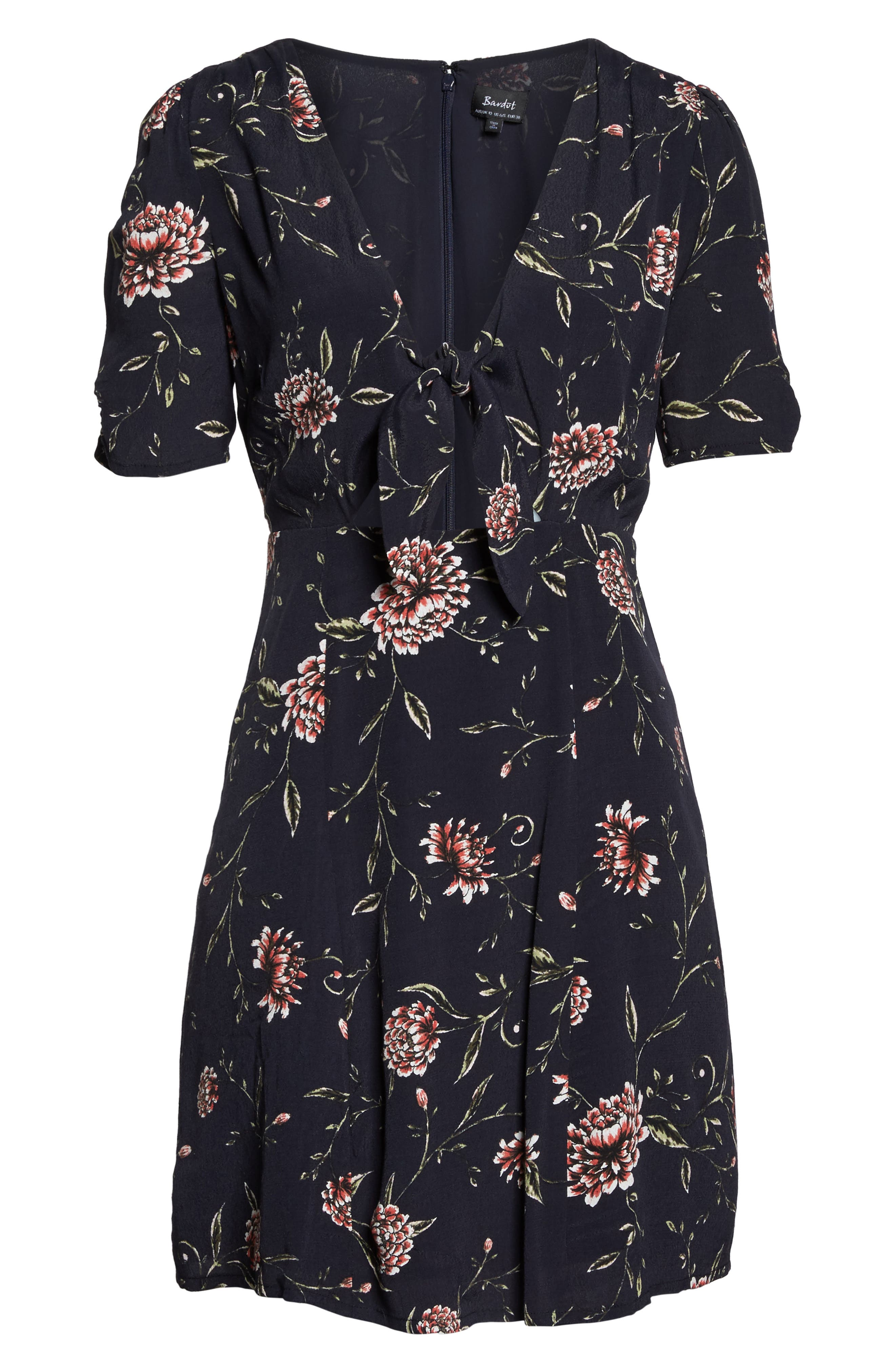 Alternate Image 6  - Bardot Tie Front Floral Dress