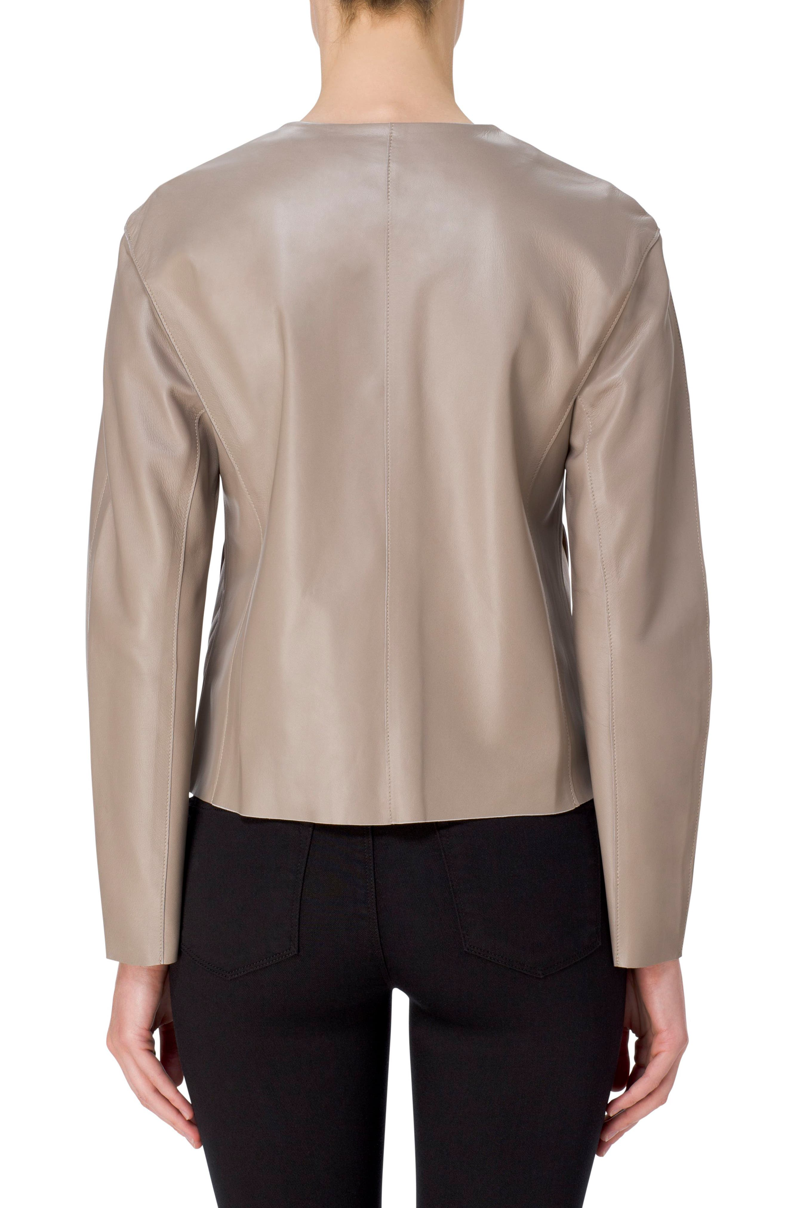 Alternate Image 2  - J Brand Cecelia Collarless Leather Jacket