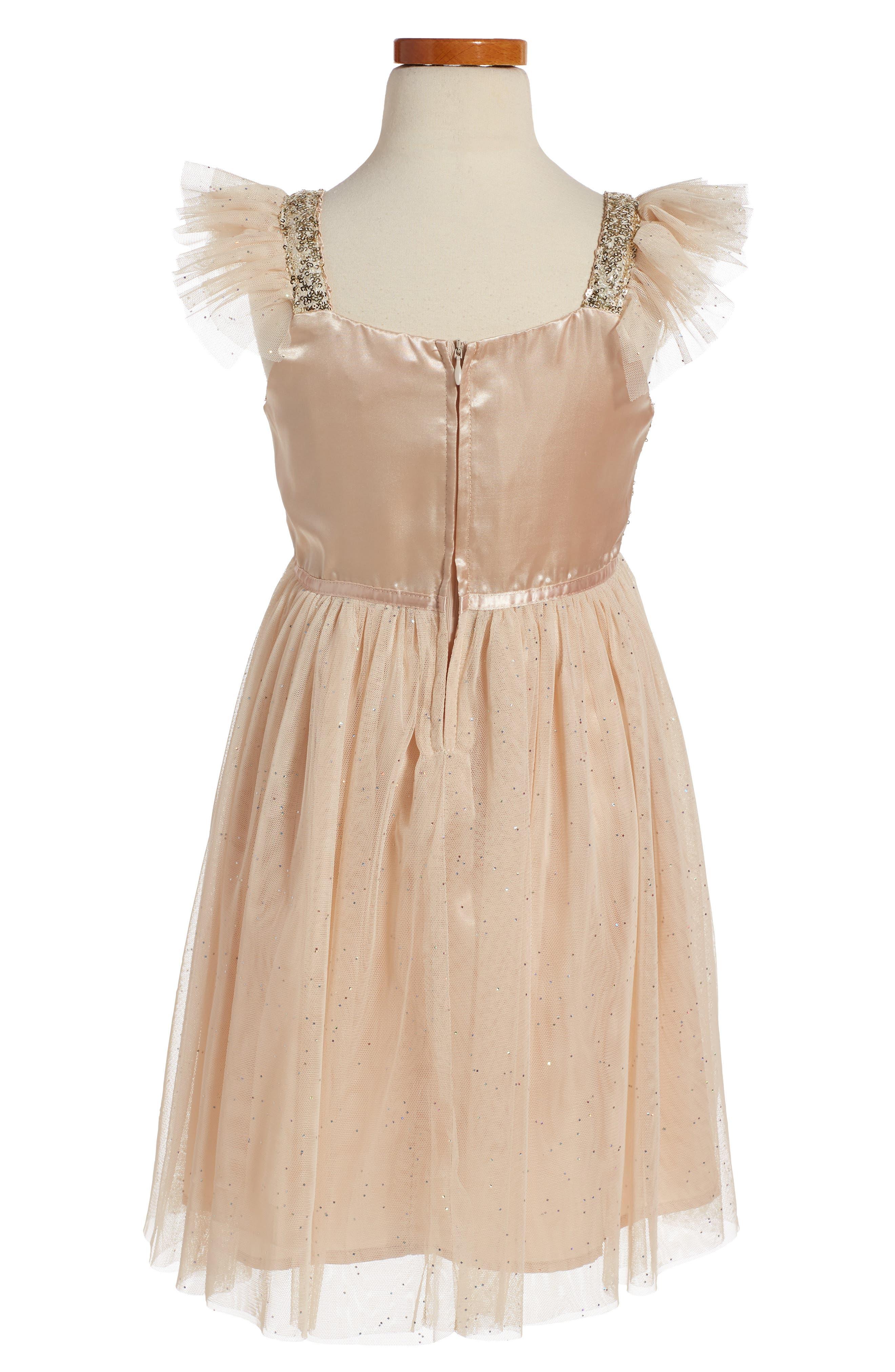 Alternate Image 2  - PopatuSequin Bodice Tulle Dress (Toddler Girls, Little Girls & Big Girls)