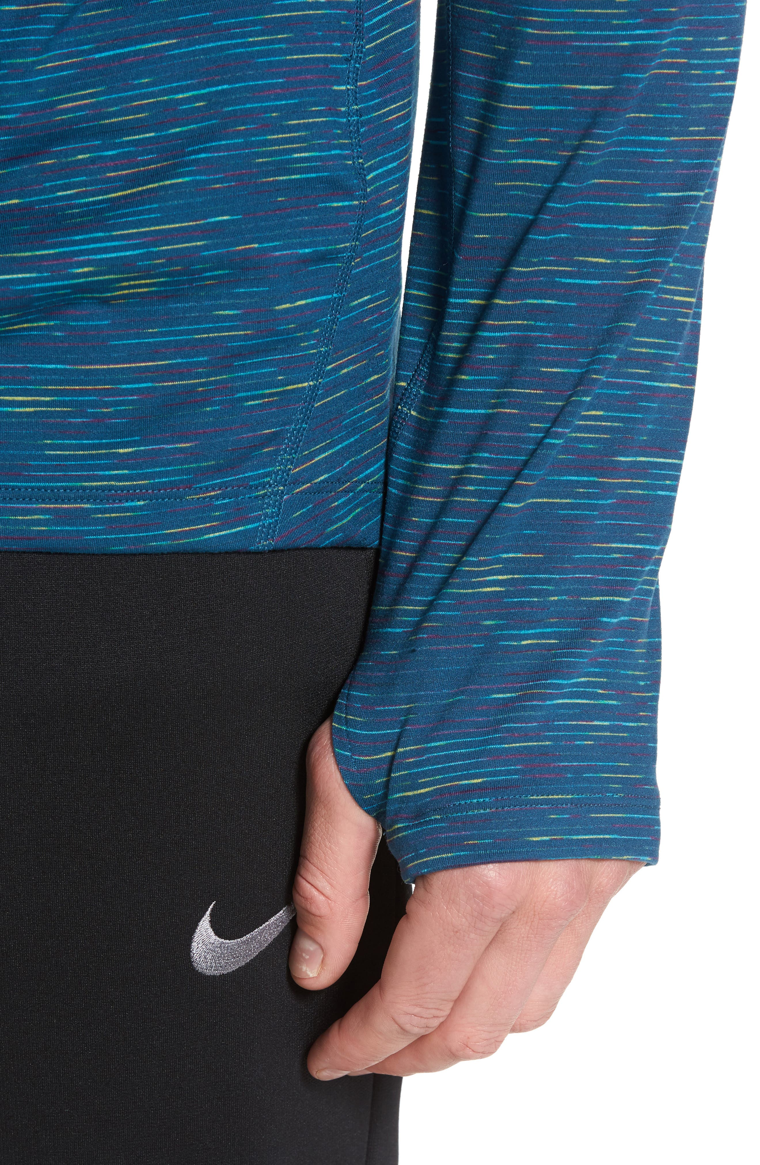 Dry Element Pullover,                             Alternate thumbnail 4, color,                             Space Blue/ Purple/ Green