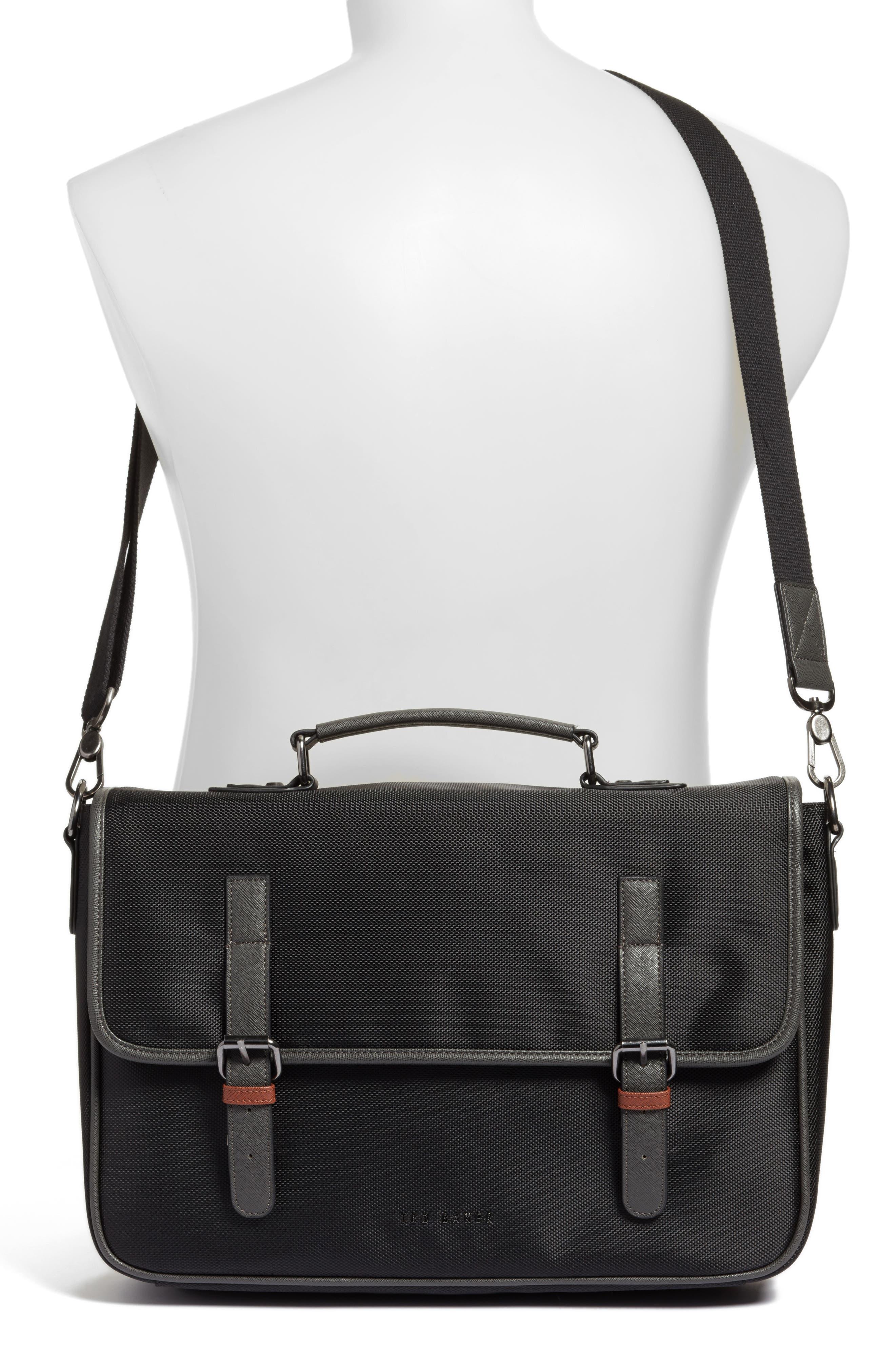 Cattar Messenger Bag,                             Alternate thumbnail 2, color,                             Black