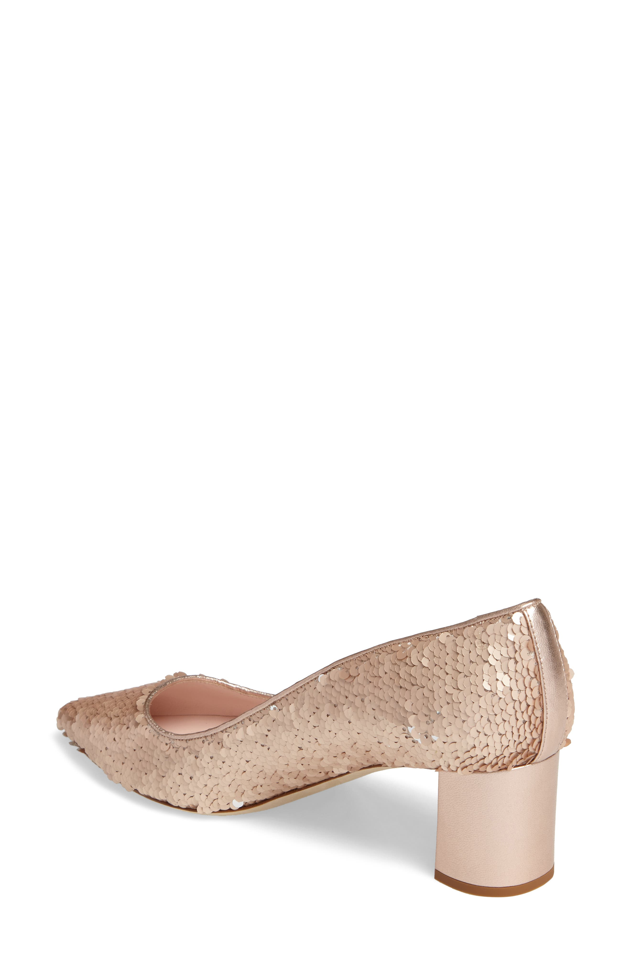 mauna sequin pump,                             Alternate thumbnail 2, color,                             Rose Gold/ Silver