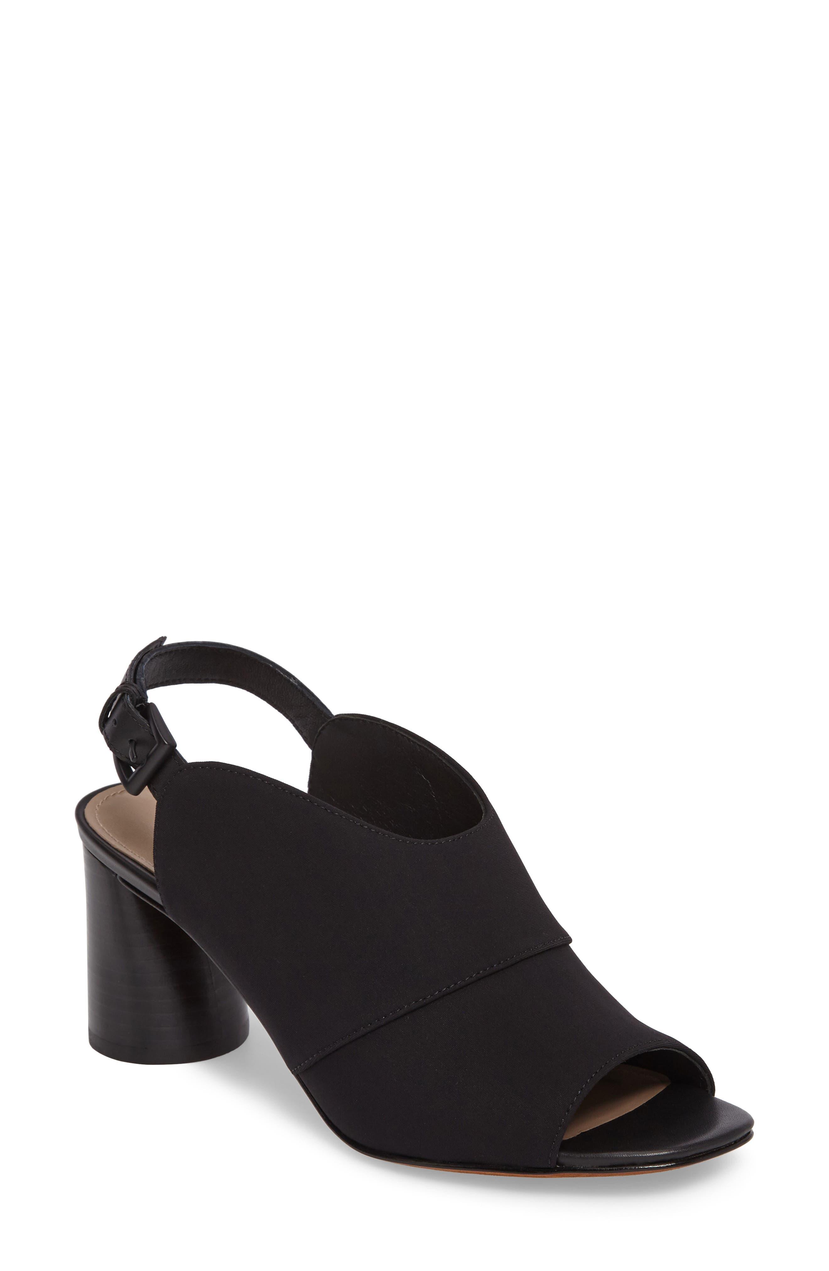 Donald J Pliner Hemi Slingback Sandal,                         Main,                         color, Black Fabric