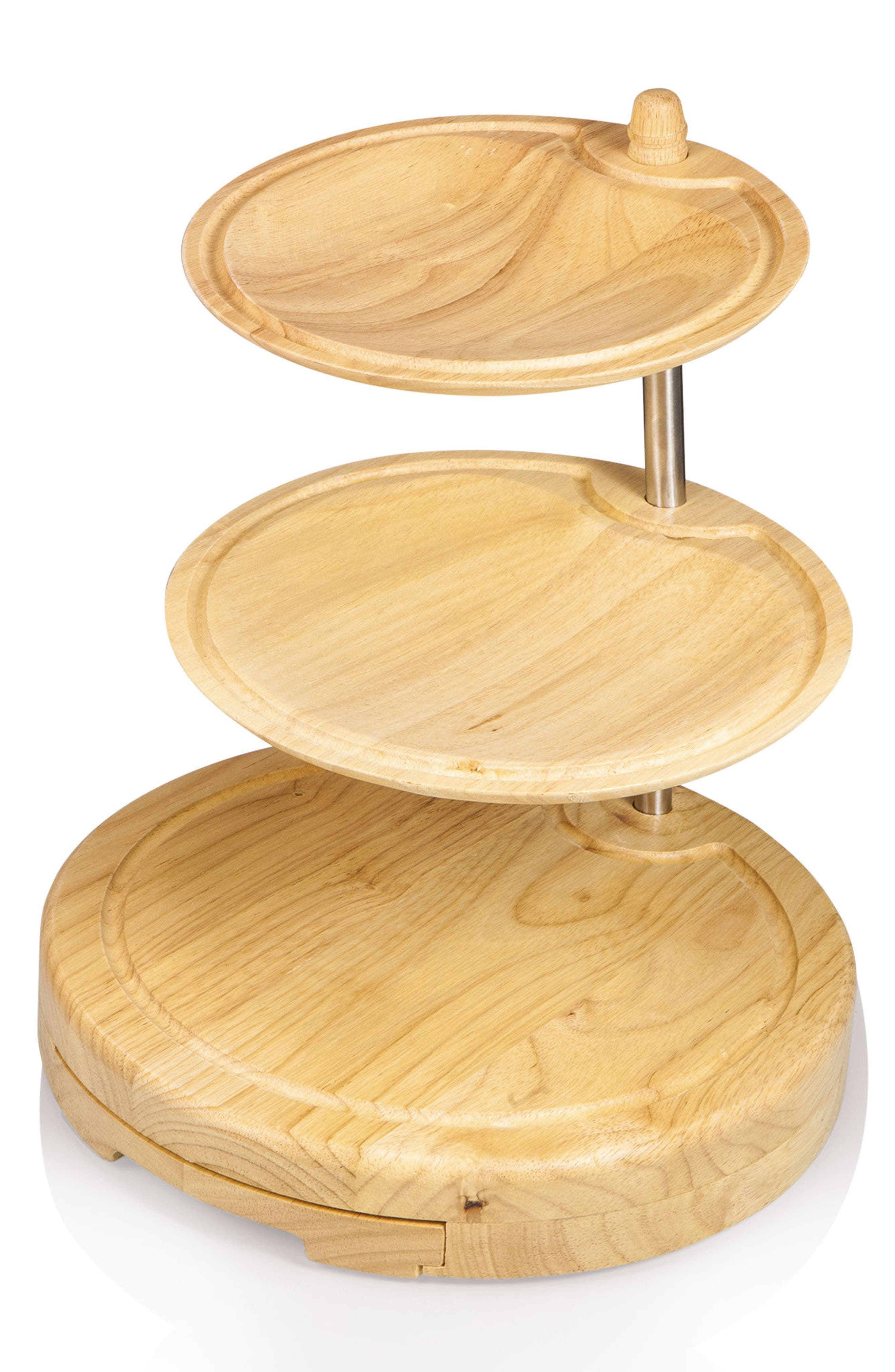 Regalio 3-Tier Cheese Board & Tool Set,                             Alternate thumbnail 3, color,                             Brown