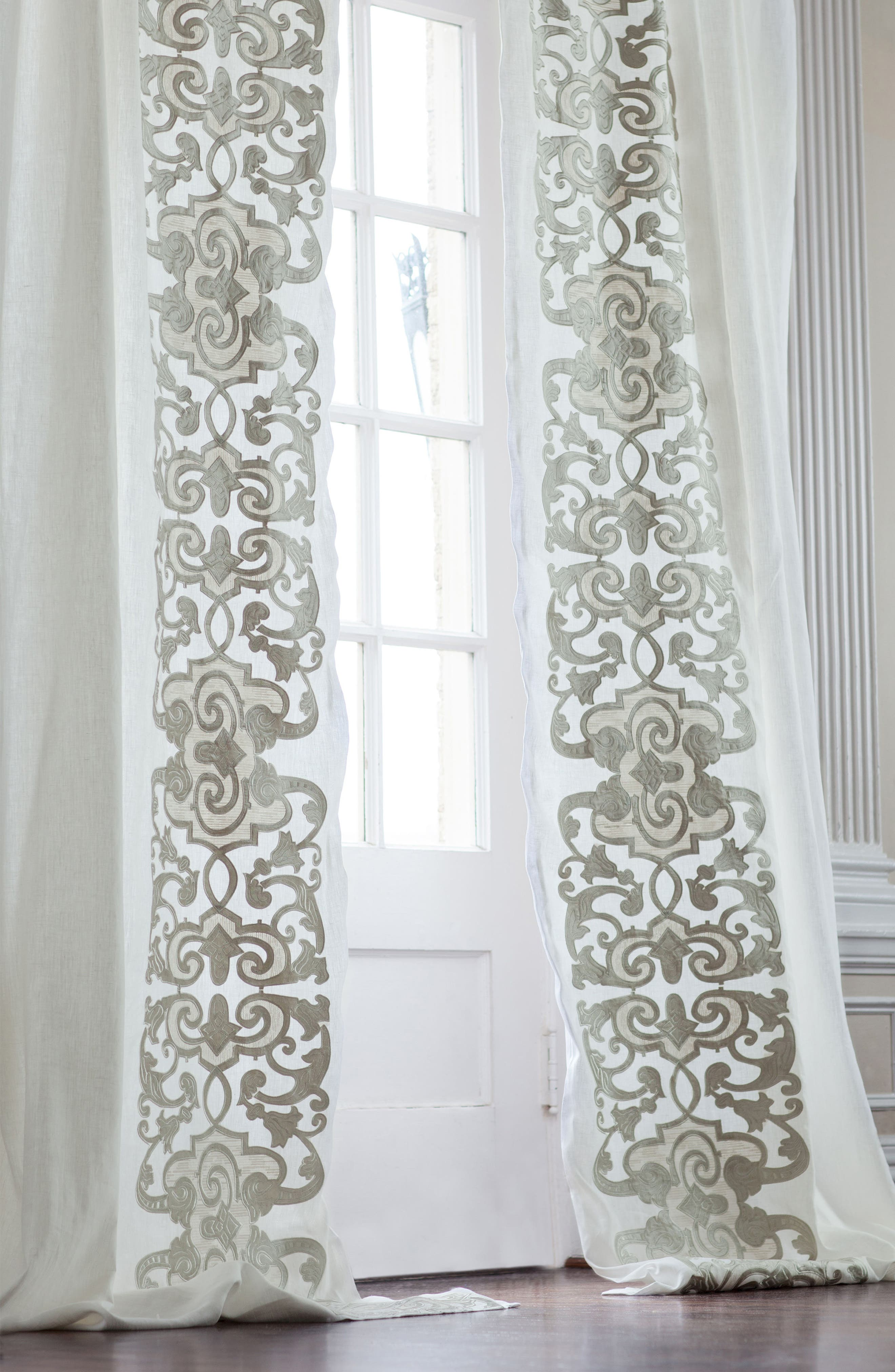 Mozart Window Panels,                         Main,                         color, White Ice Silver
