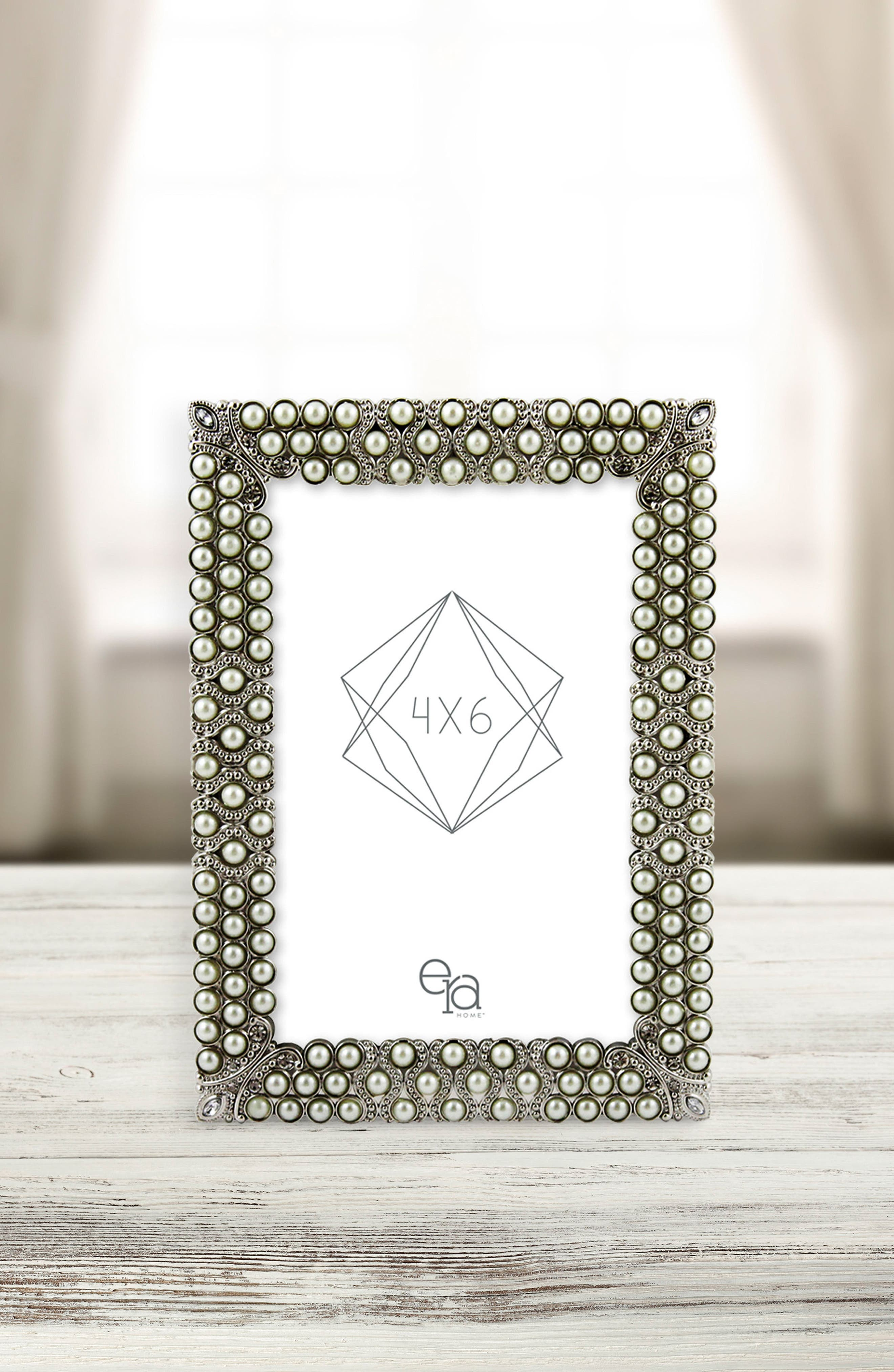 Corinne Picture Frame,                             Alternate thumbnail 2, color,                             Metallic Silver