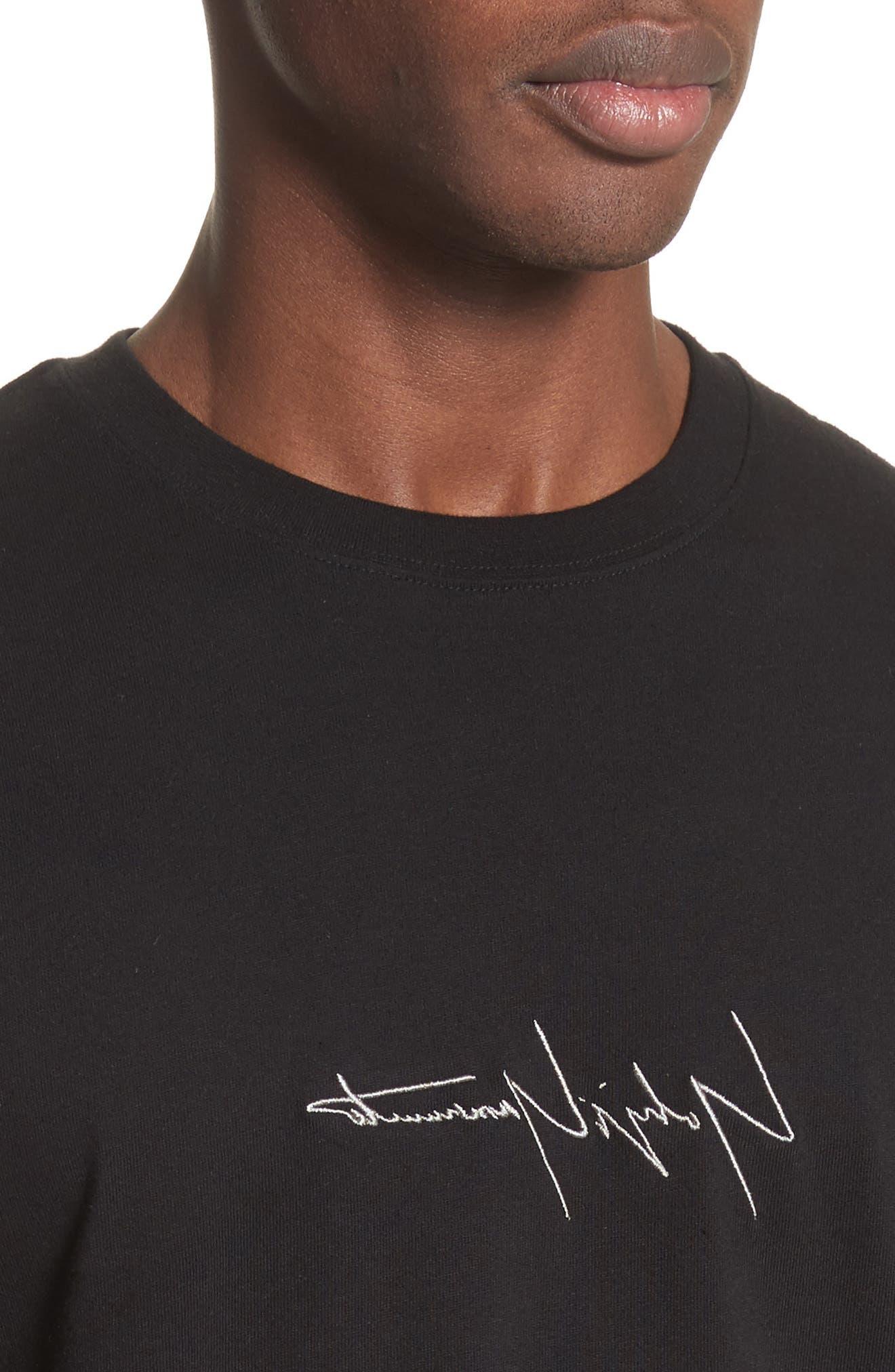 Alternate Image 4  - Yohji Yamamoto x New Era Embroidered Script T-Shirt