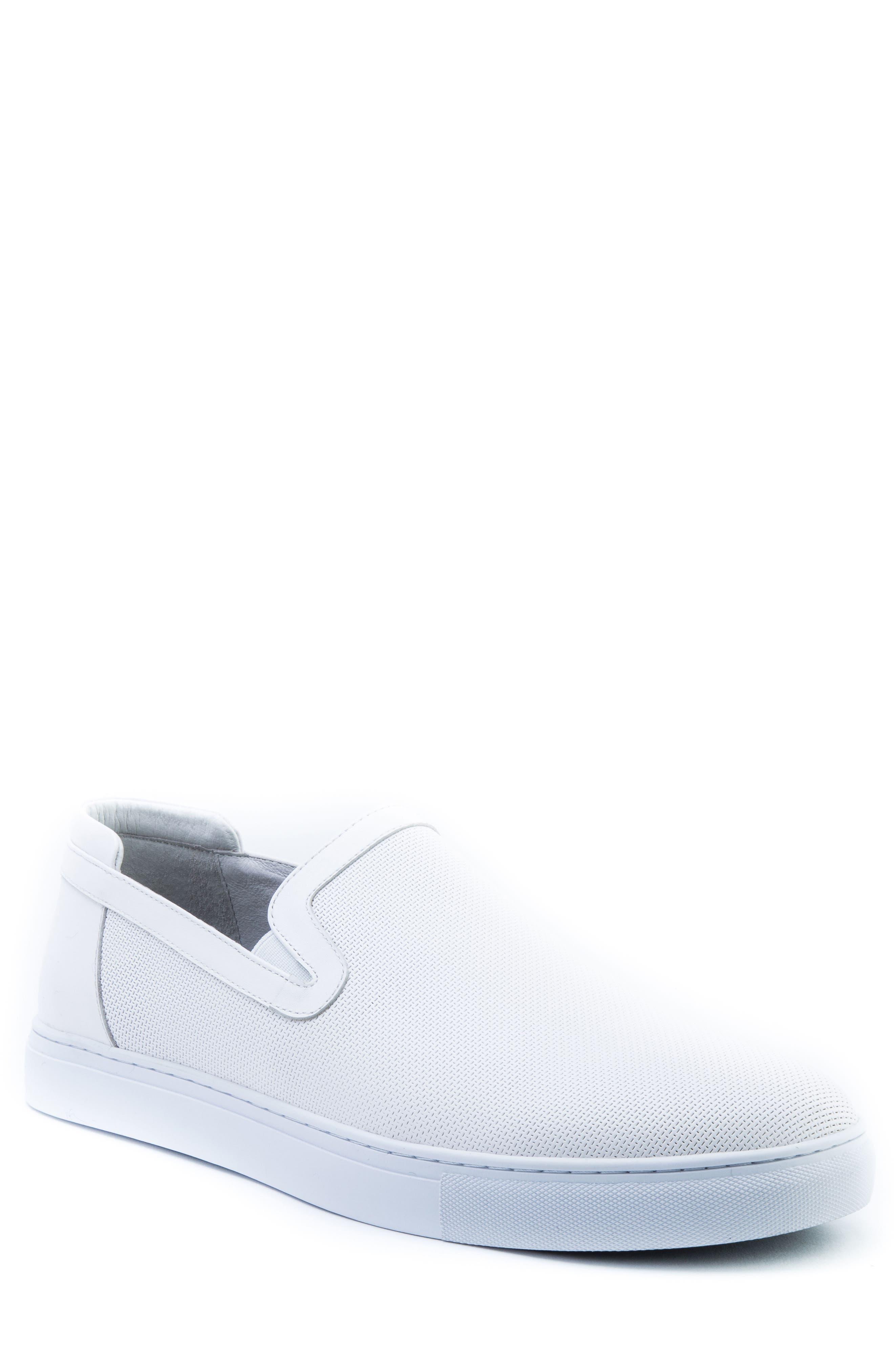Grant Sneaker,                             Main thumbnail 1, color,                             White Leather
