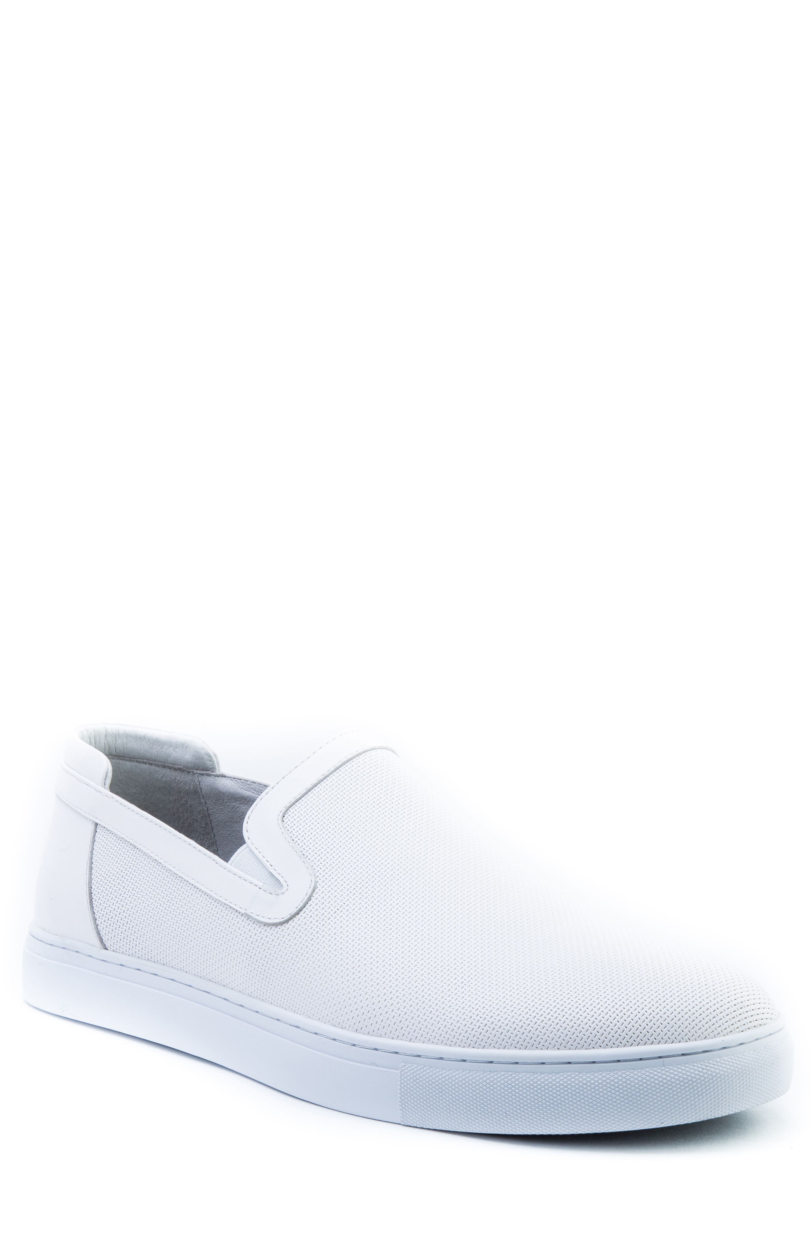 Grant Sneaker,                         Main,                         color, White Leather