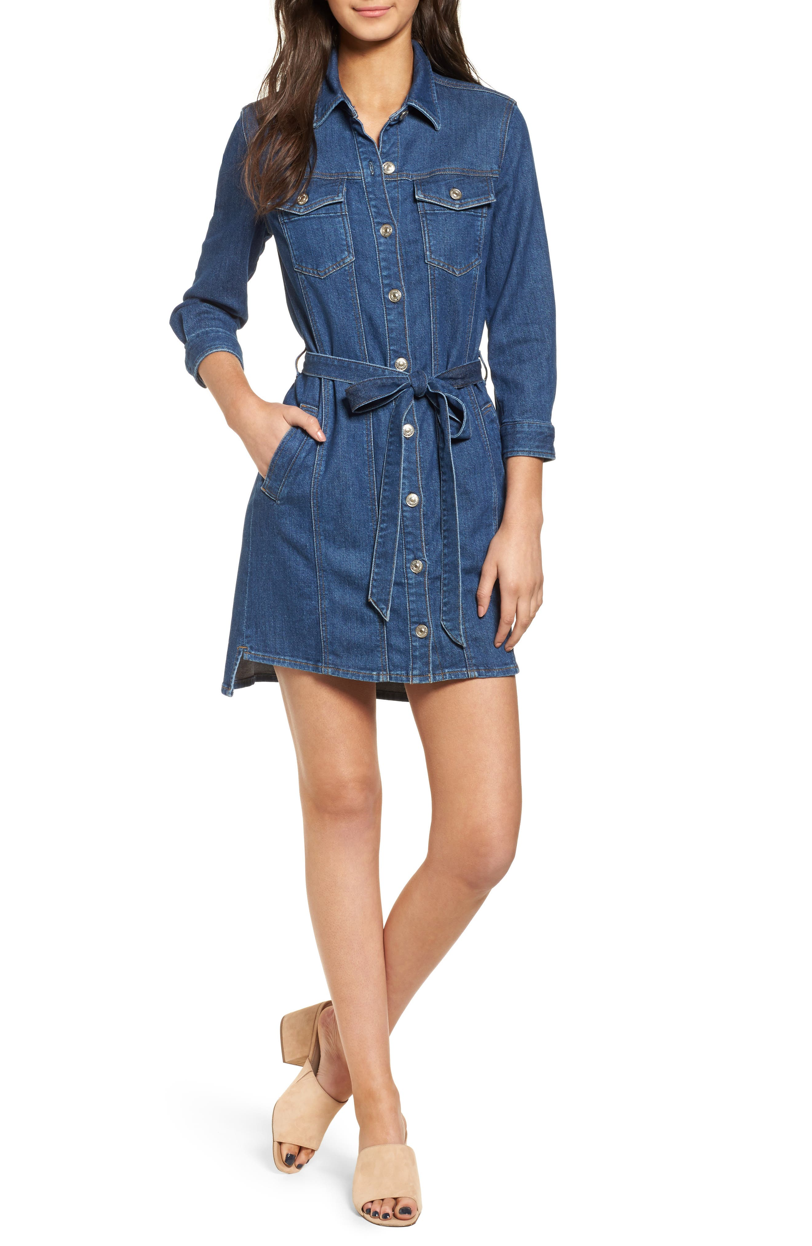 7 For All Mankind Trucker Shirtdress