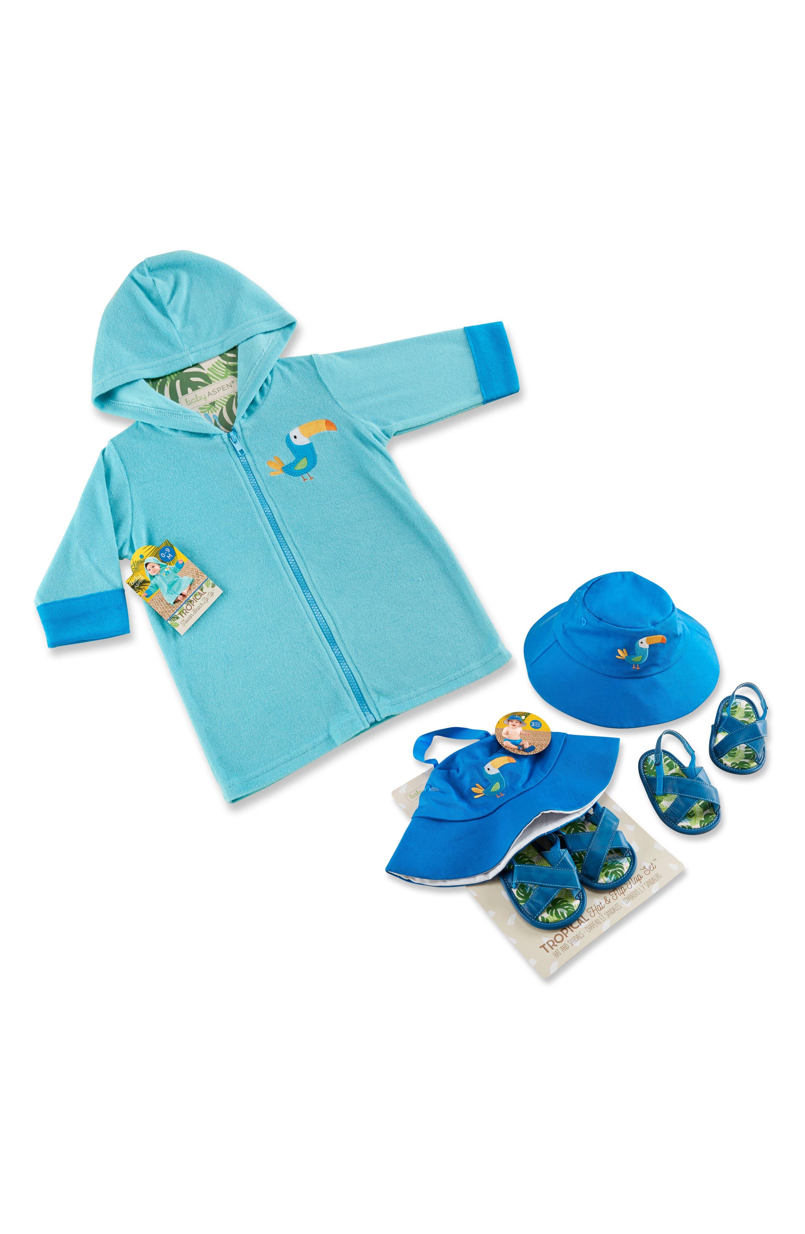Tropical 3-Piece Gift Set,                         Main,                         color, Blue