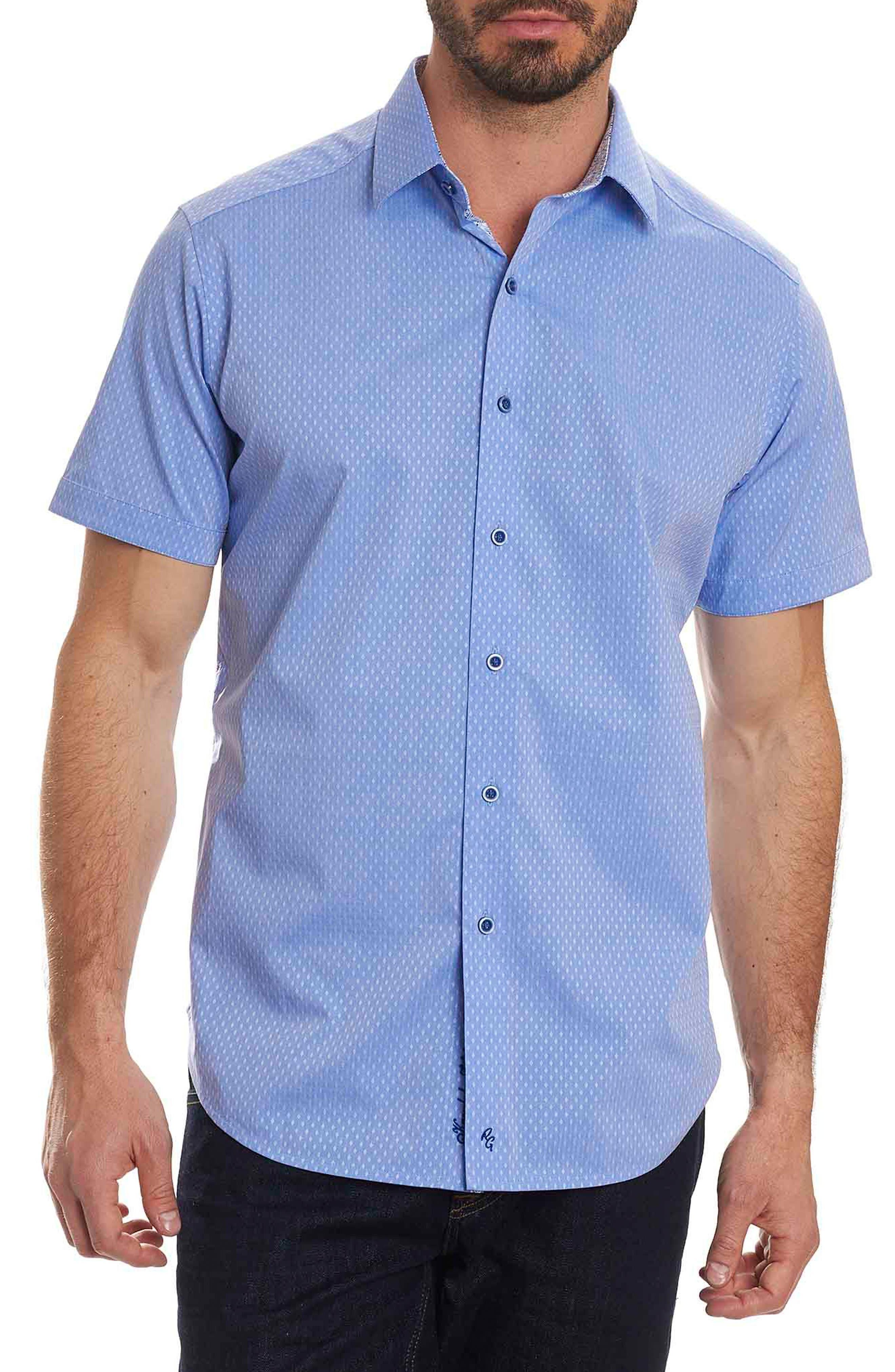 Clemens Short Sleeve Sport Shirt,                         Main,                         color, Teal