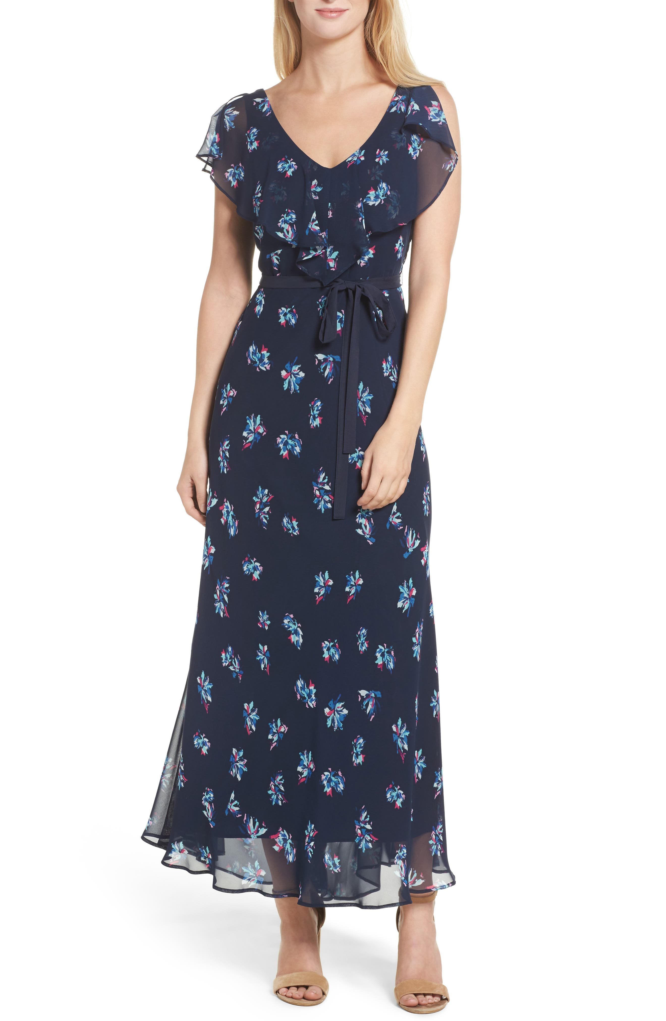 TAYLOR DRESSES Chiffon Maxi Dress