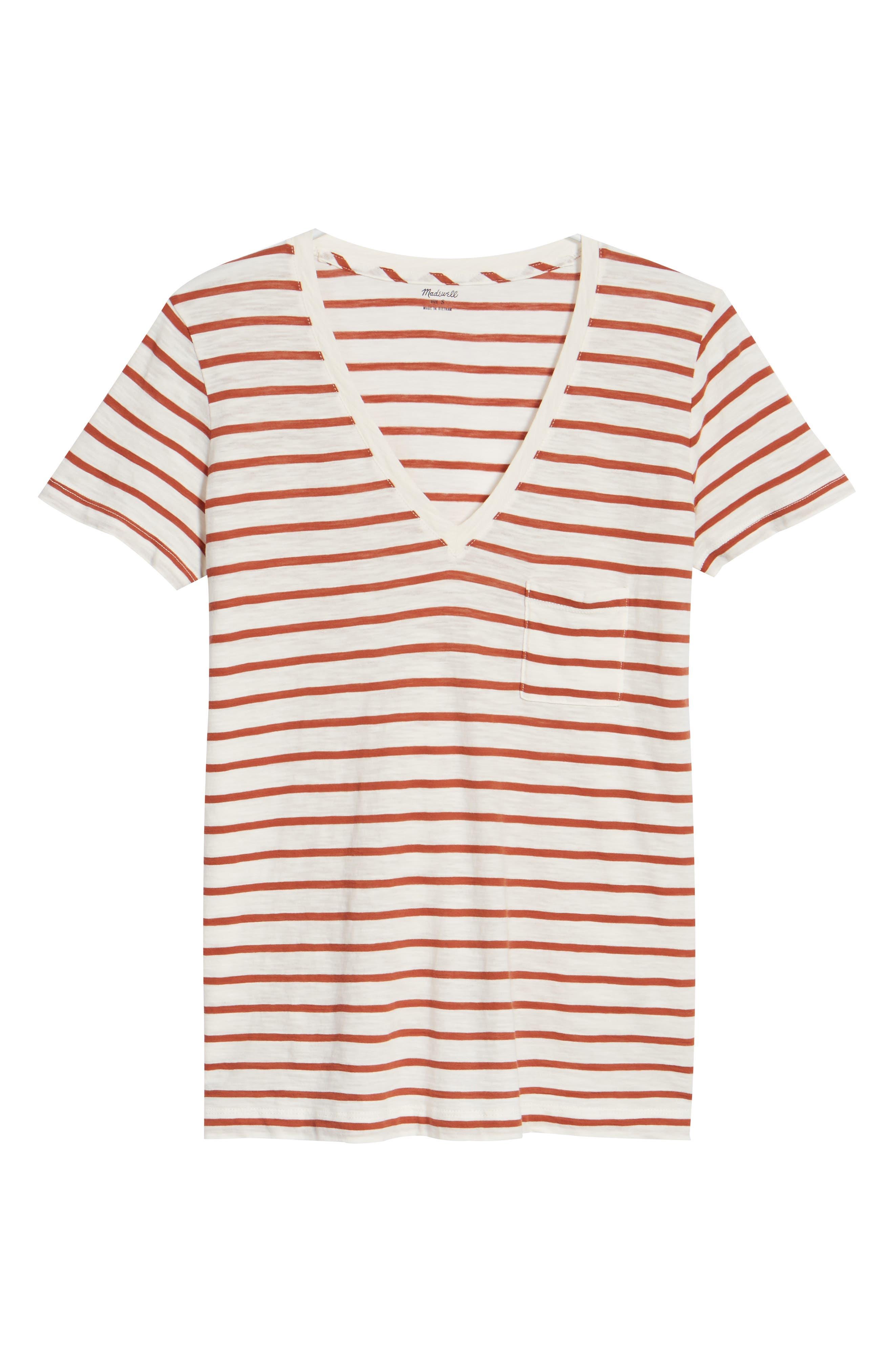 Alternate Image 6  - Madewell Whisper Cotton Stripe V-Neck Tee