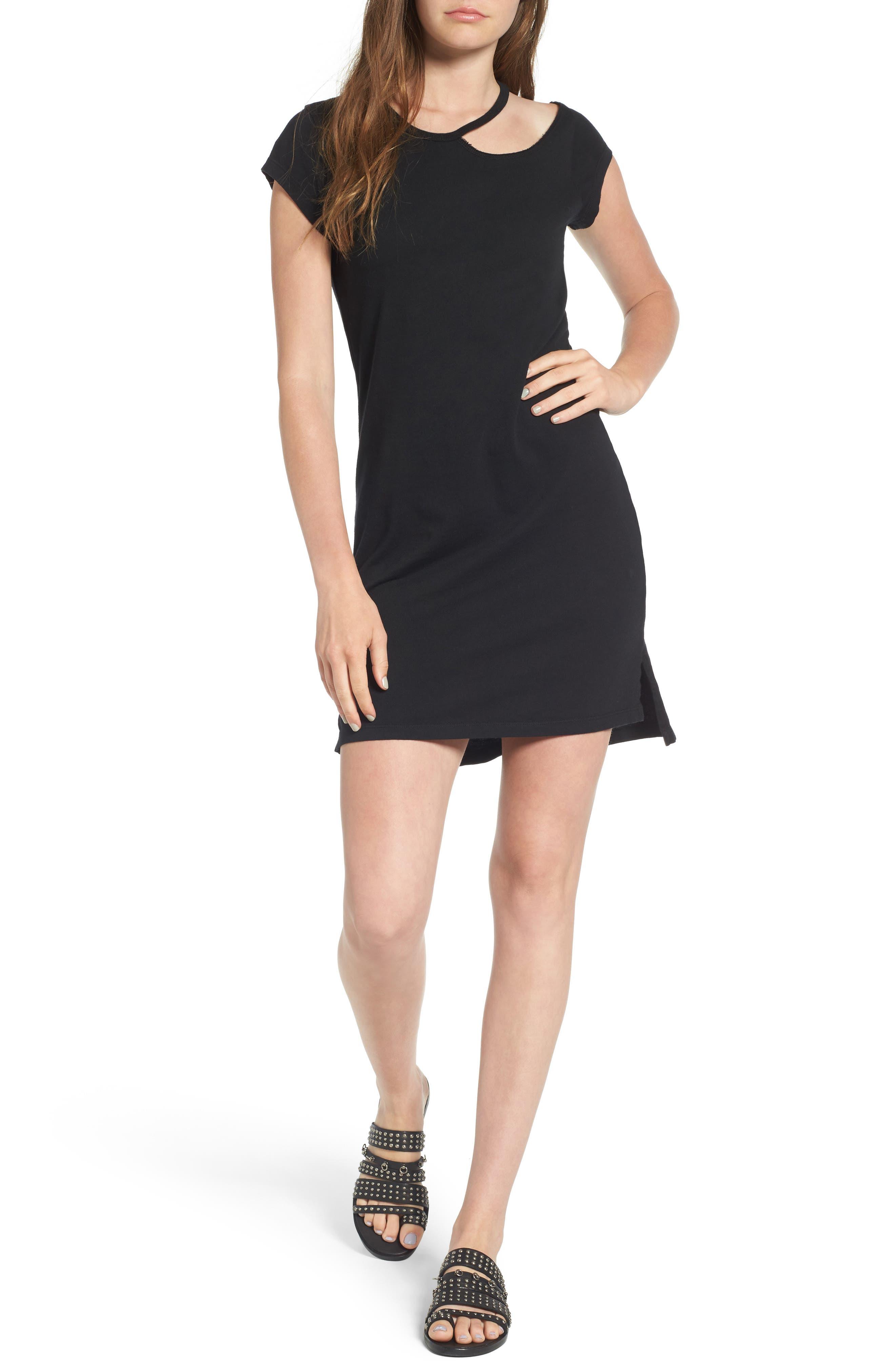 Pam & Gela Cutout Shoulder Dress