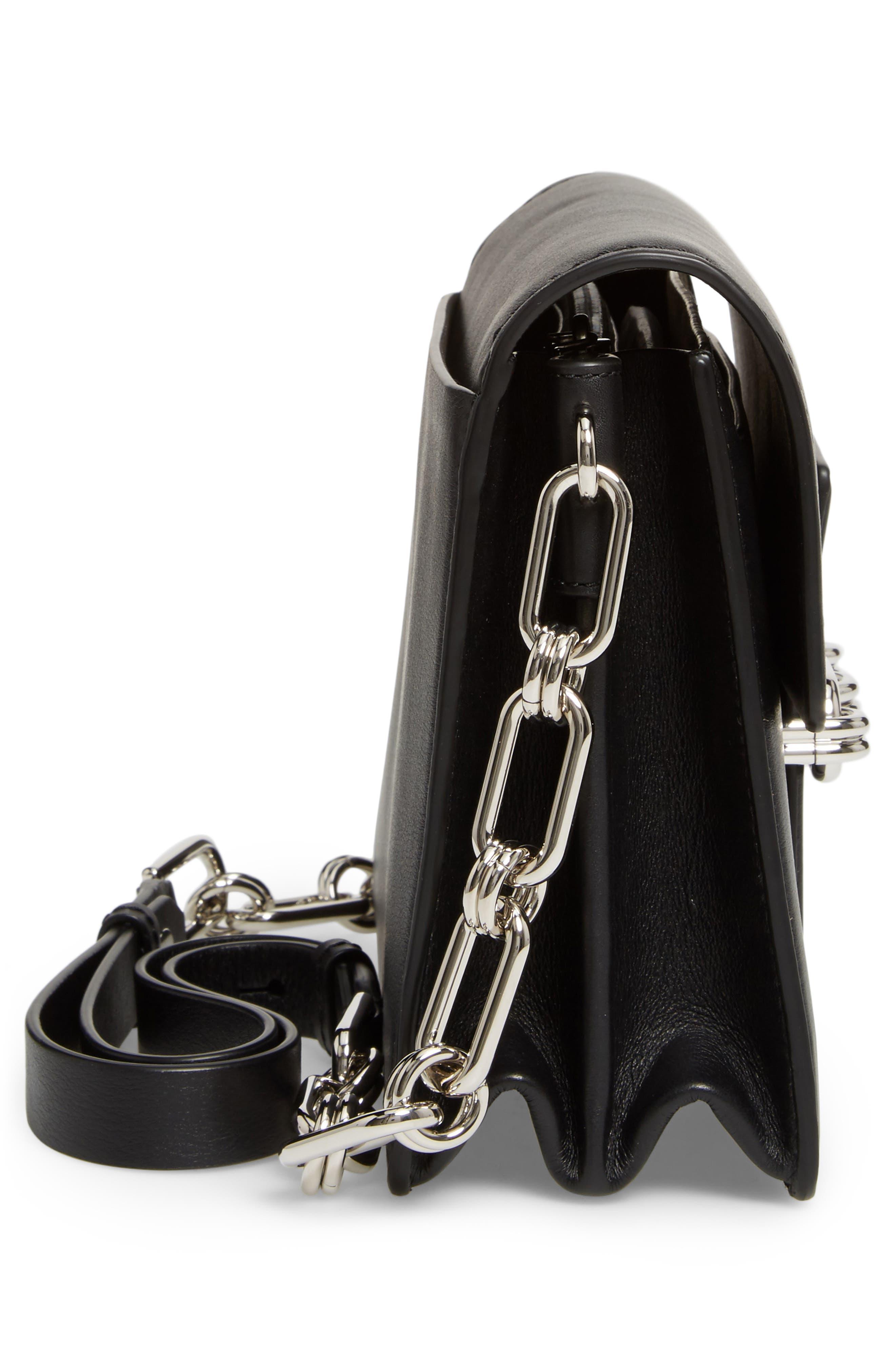 Medium Shoulder Bag,                             Alternate thumbnail 4, color,                             Black