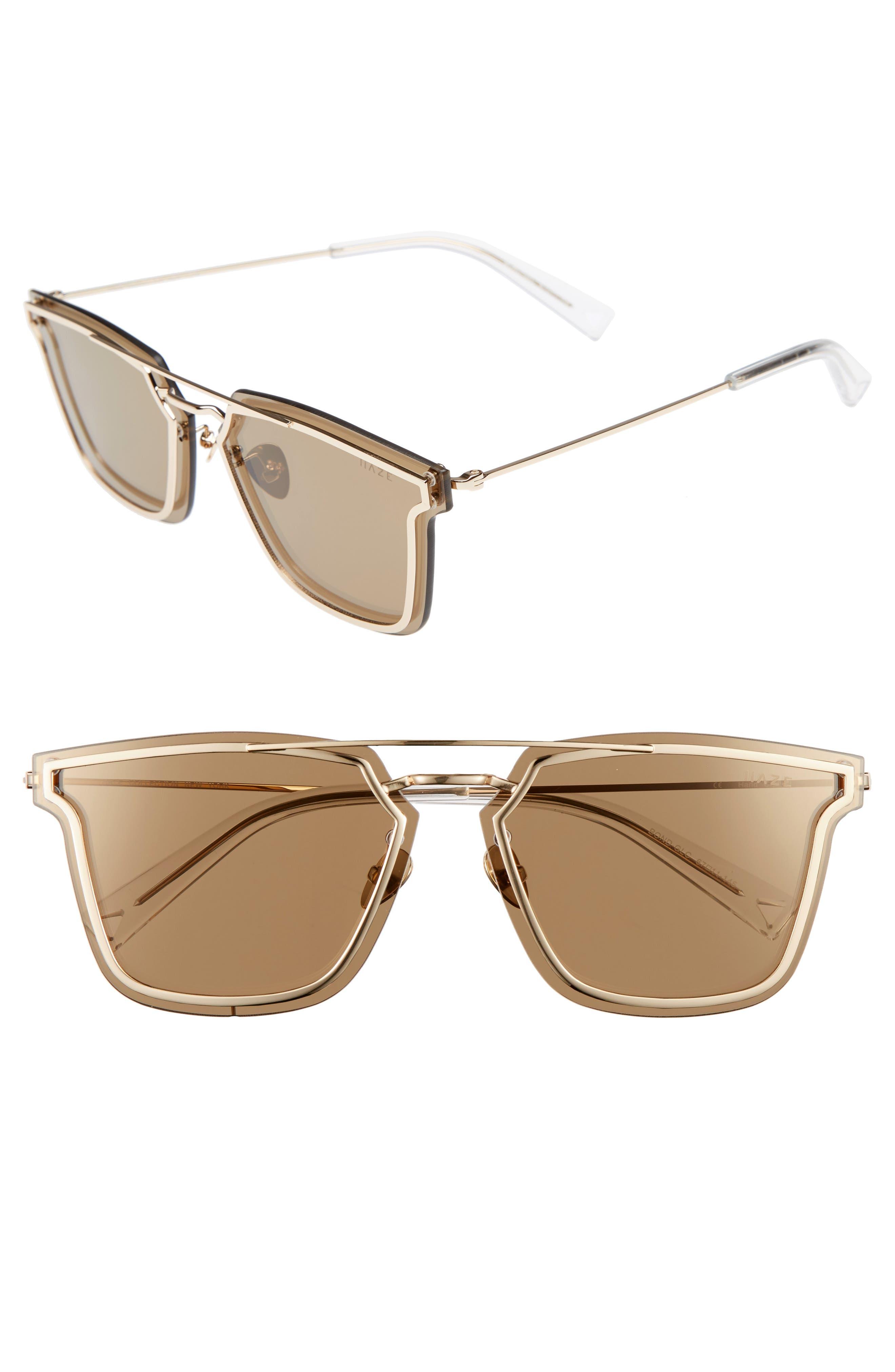Main Image - HAZE Bond 67mm Oversize Mirrored Sunglasses