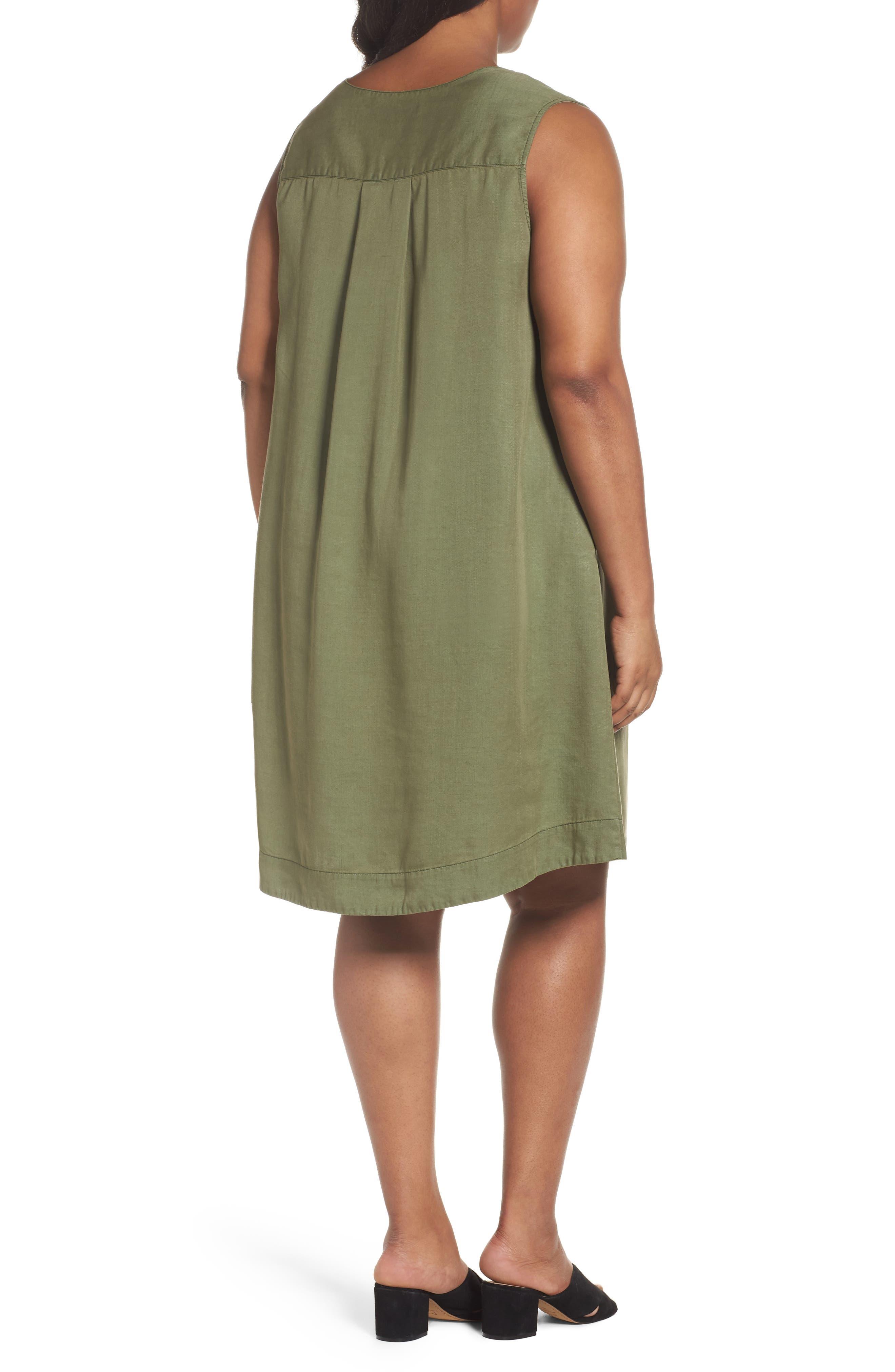 Alternate Image 2  - Foxcroft Skyler Twill A-Line Dress (Plus Size)
