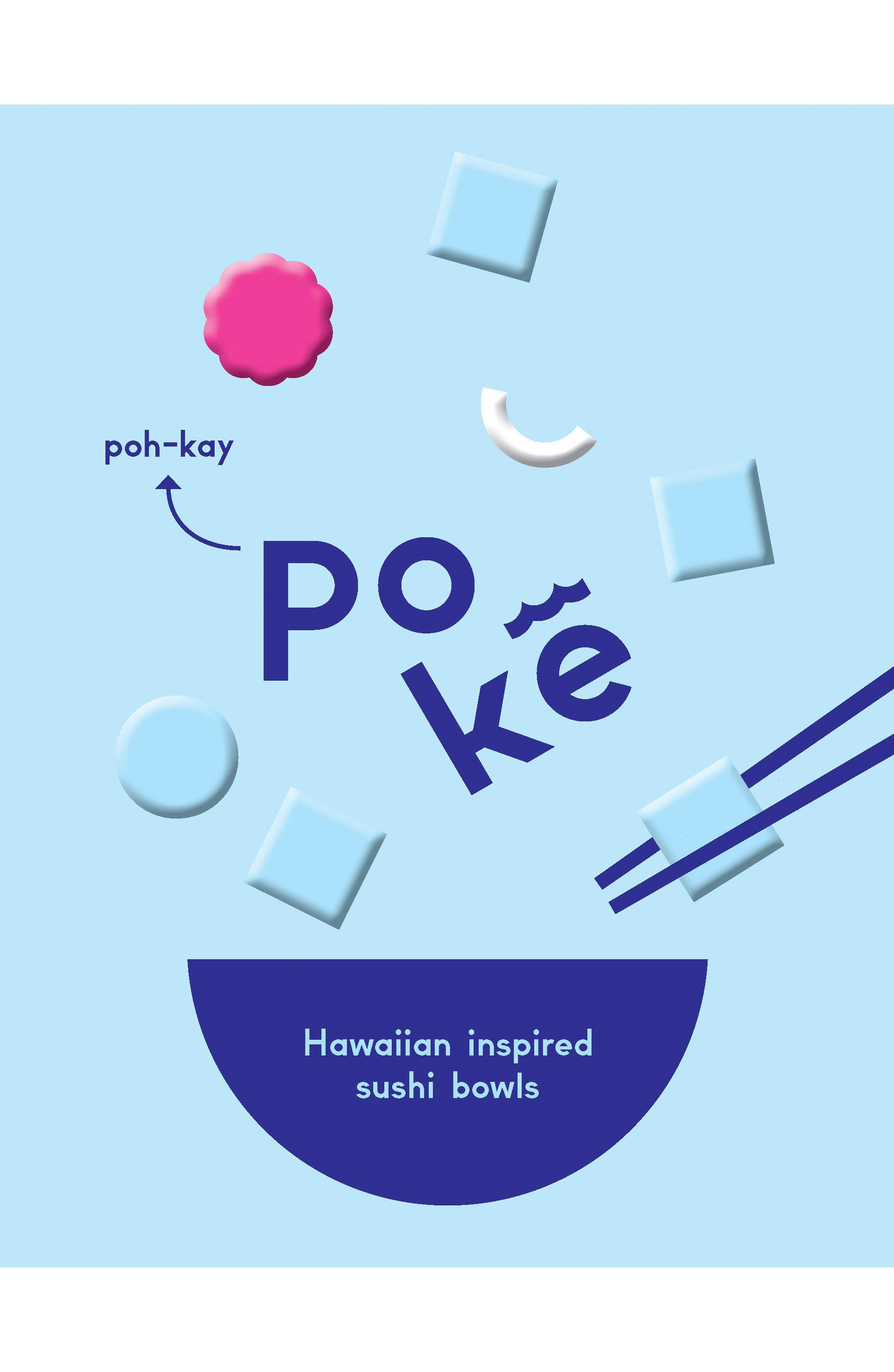 Poké - Hawaiian Inspired Sushi Bowls Book,                         Main,                         color, Blue