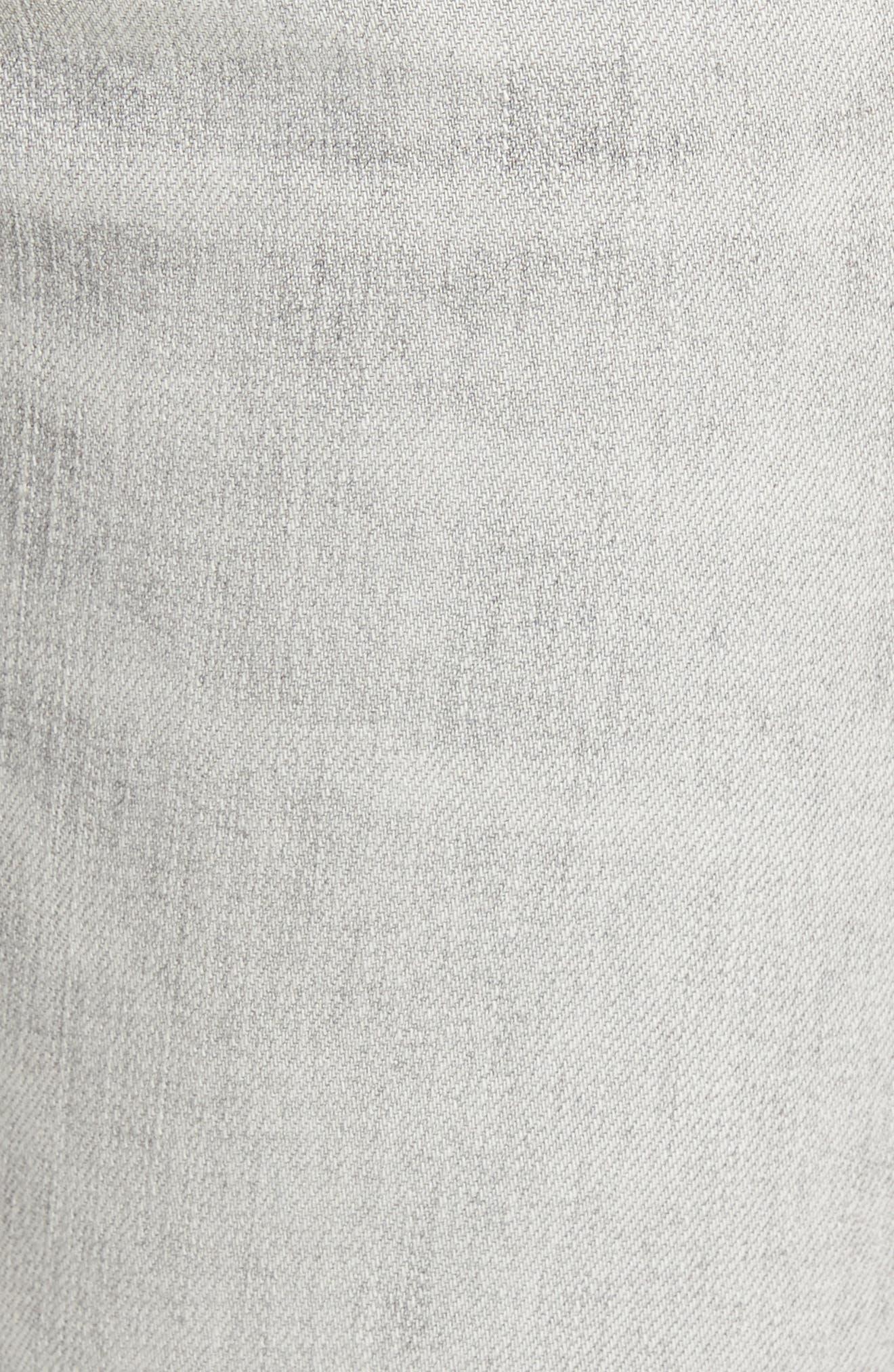 Sophie High Waist Skinny Jeans,                             Alternate thumbnail 5, color,                             Portland Destruct