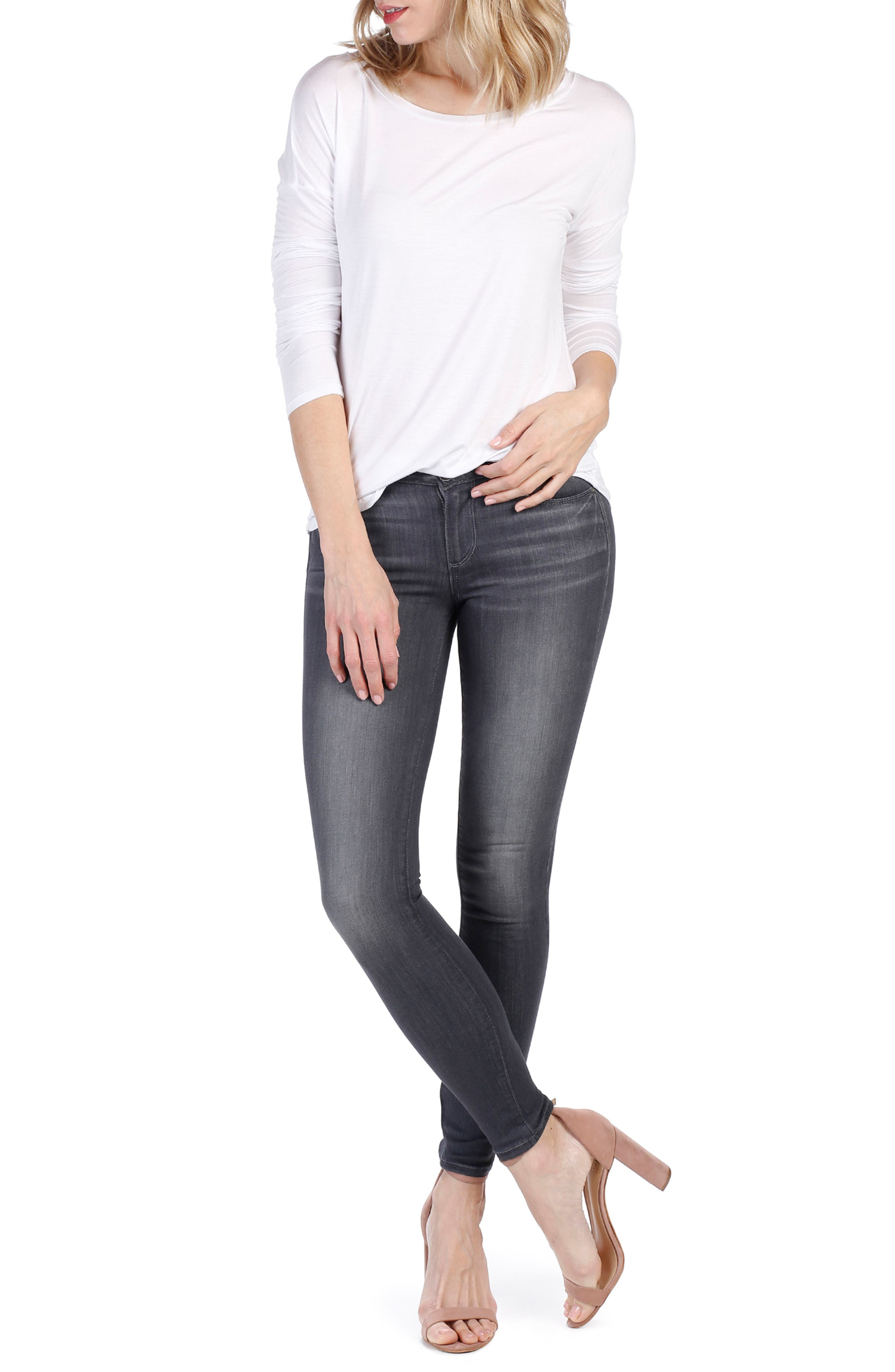 Alternate Image 2  - PAIGE Transcend - Verdugo Ankle Skinny Jeans (Summit Grey)