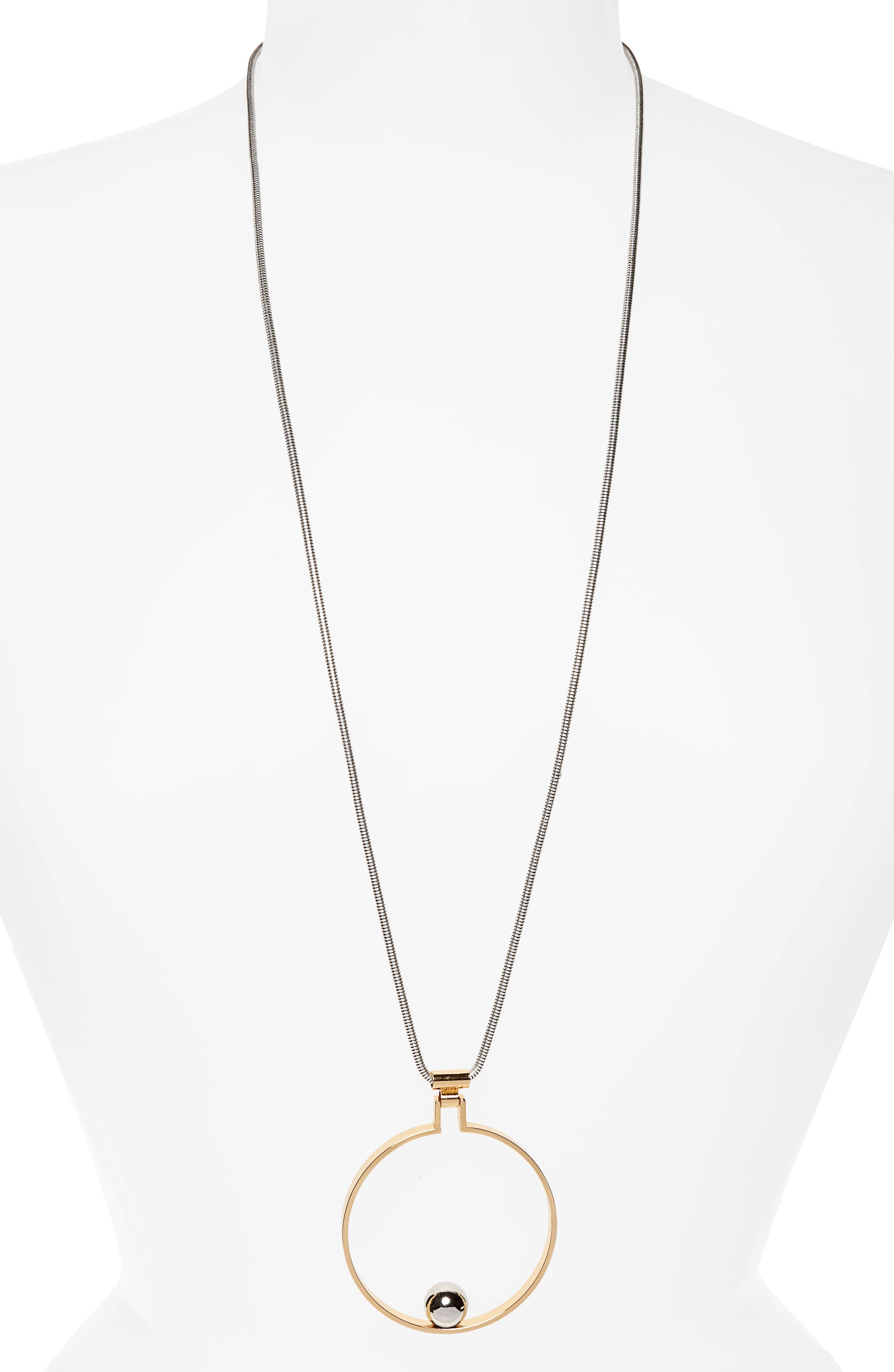 Saros Pendant Necklace,                         Main,                         color, Two-Tone
