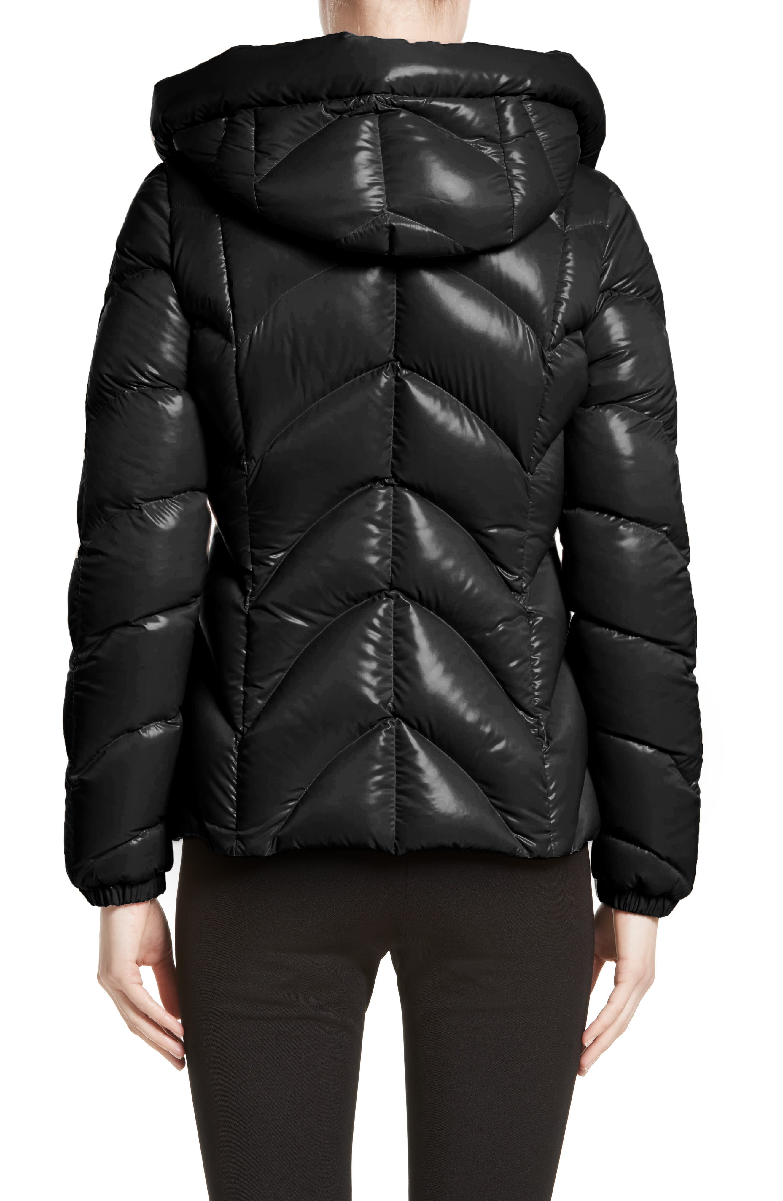 Akebia Quilted Down Jacket,                             Alternate thumbnail 2, color,                             Black