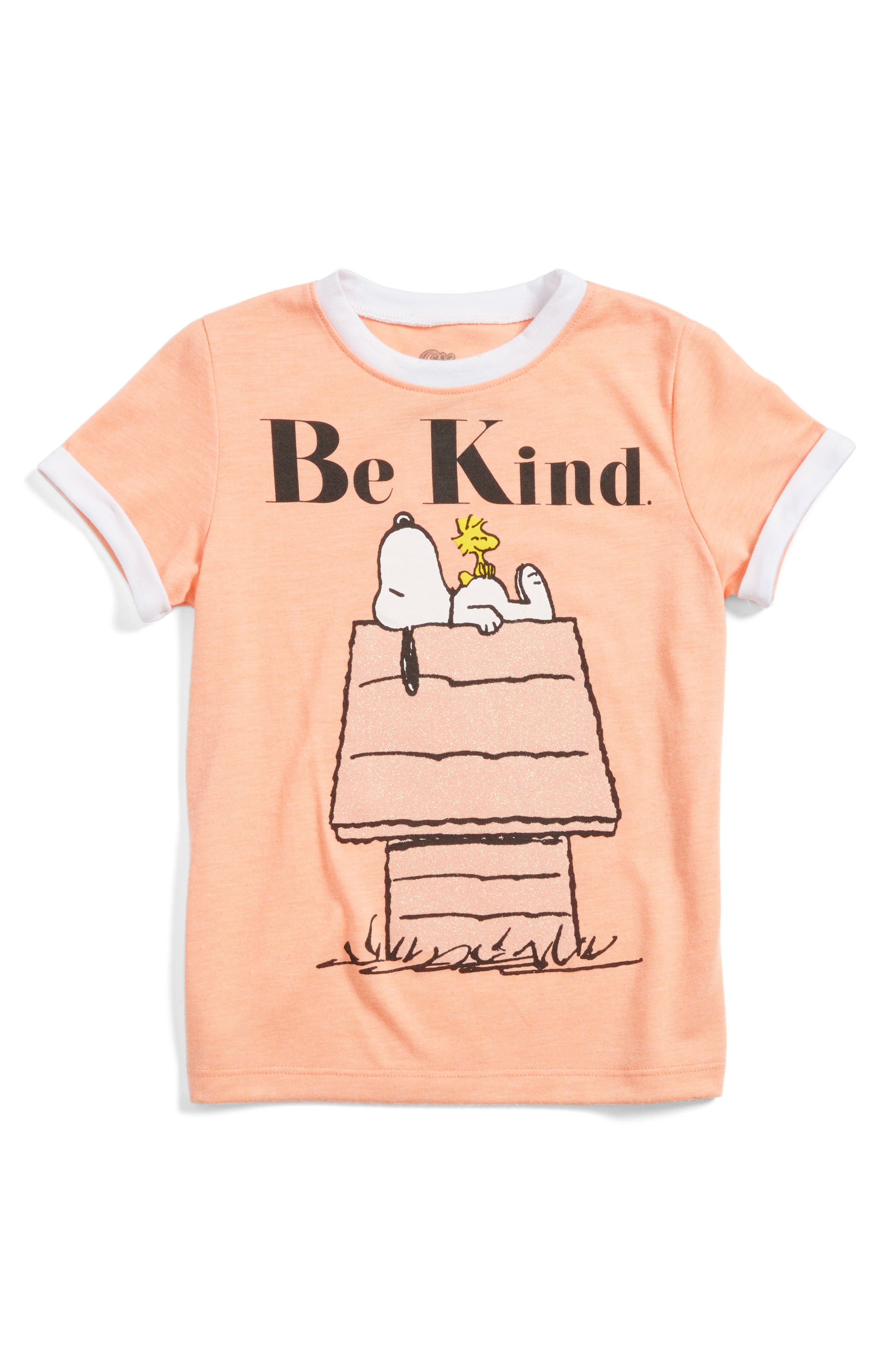 Mighty Fine Snoopy & Woodstock Be Kind Tee (Toddler Girls, Little Girls & Big Girls)