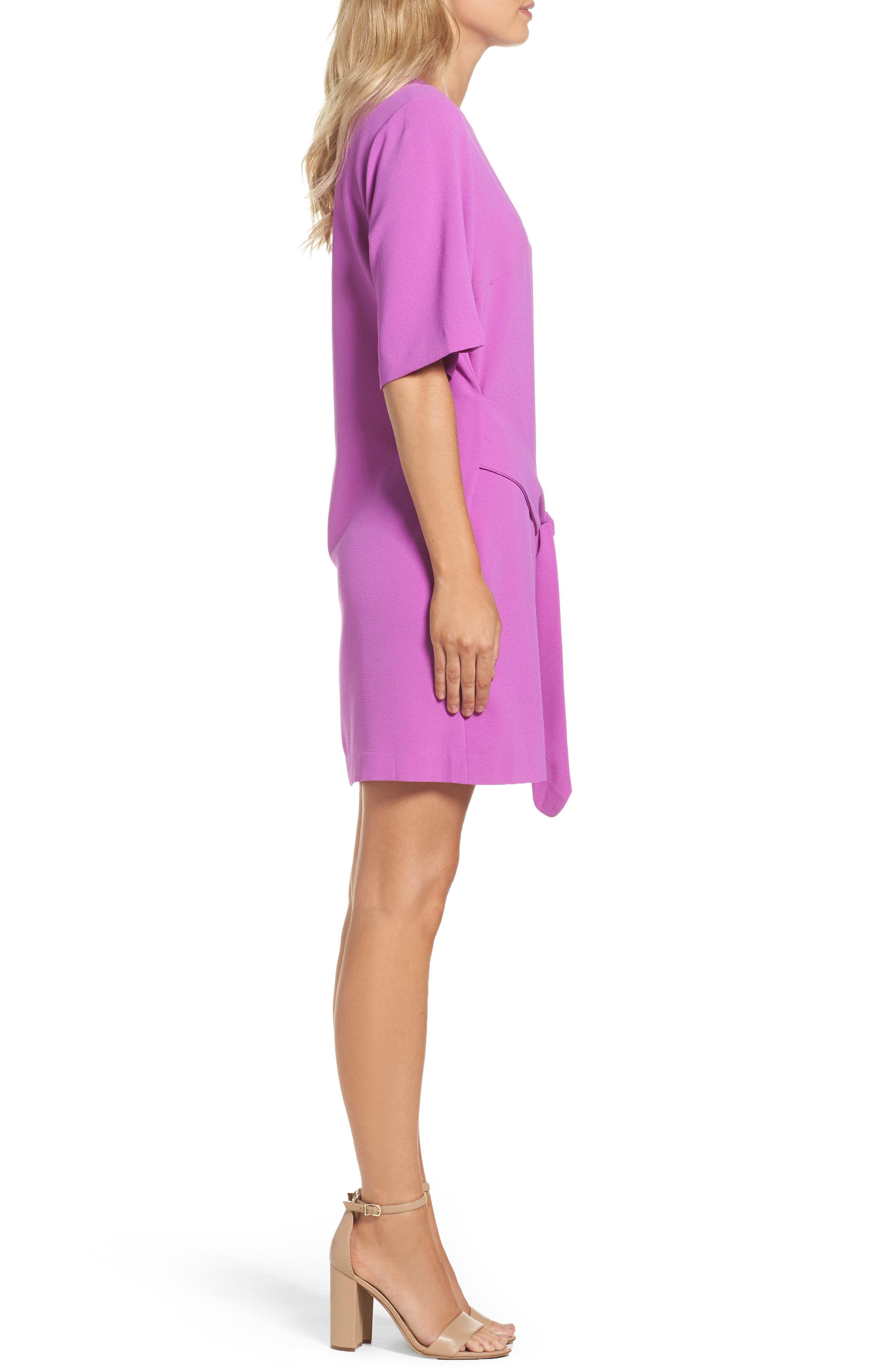 Dara Shift Dress,                             Alternate thumbnail 3, color,                             Violet