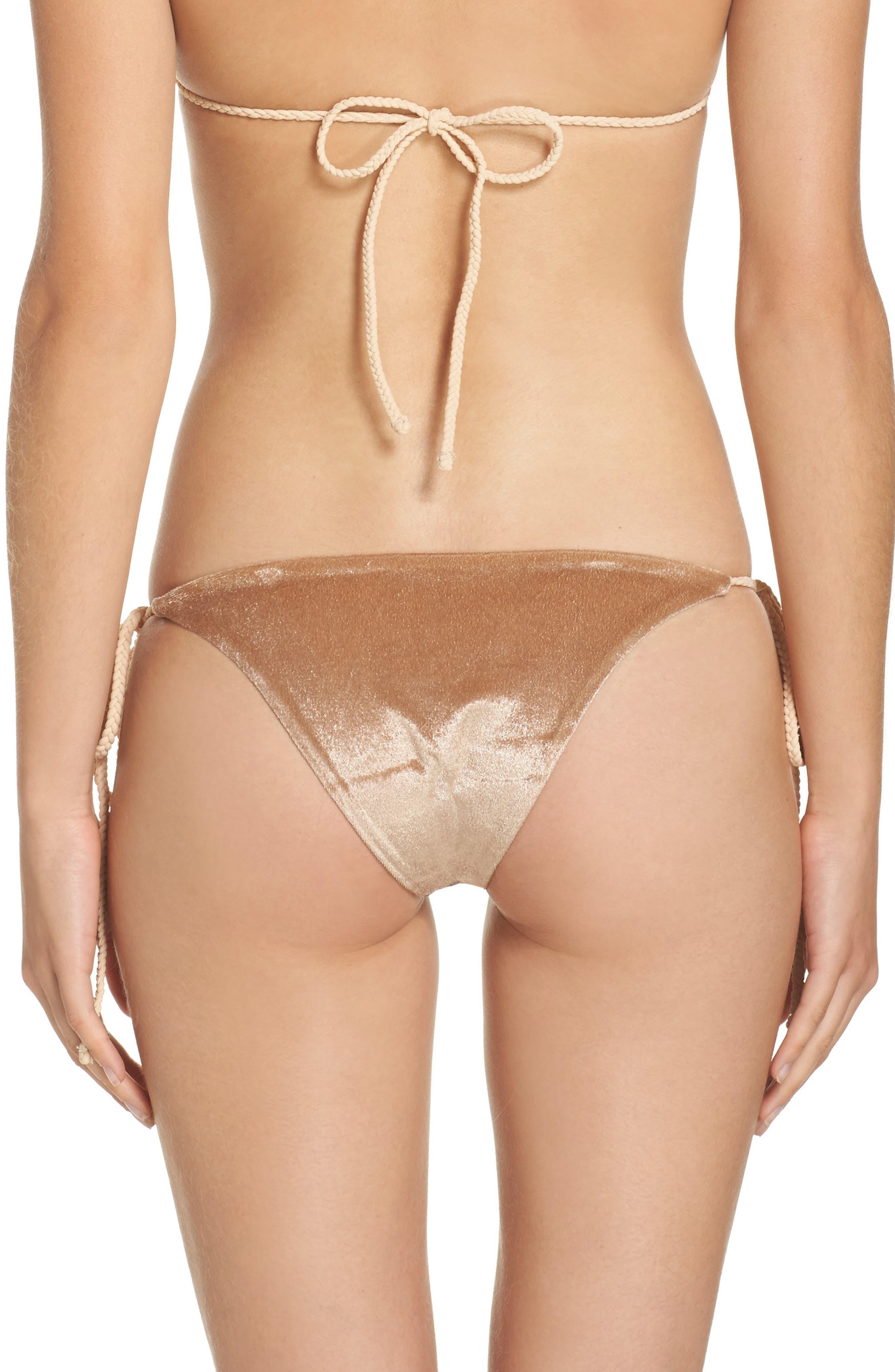 Frankies Bikinis Knox Crushed Velvet Bikini Bottoms