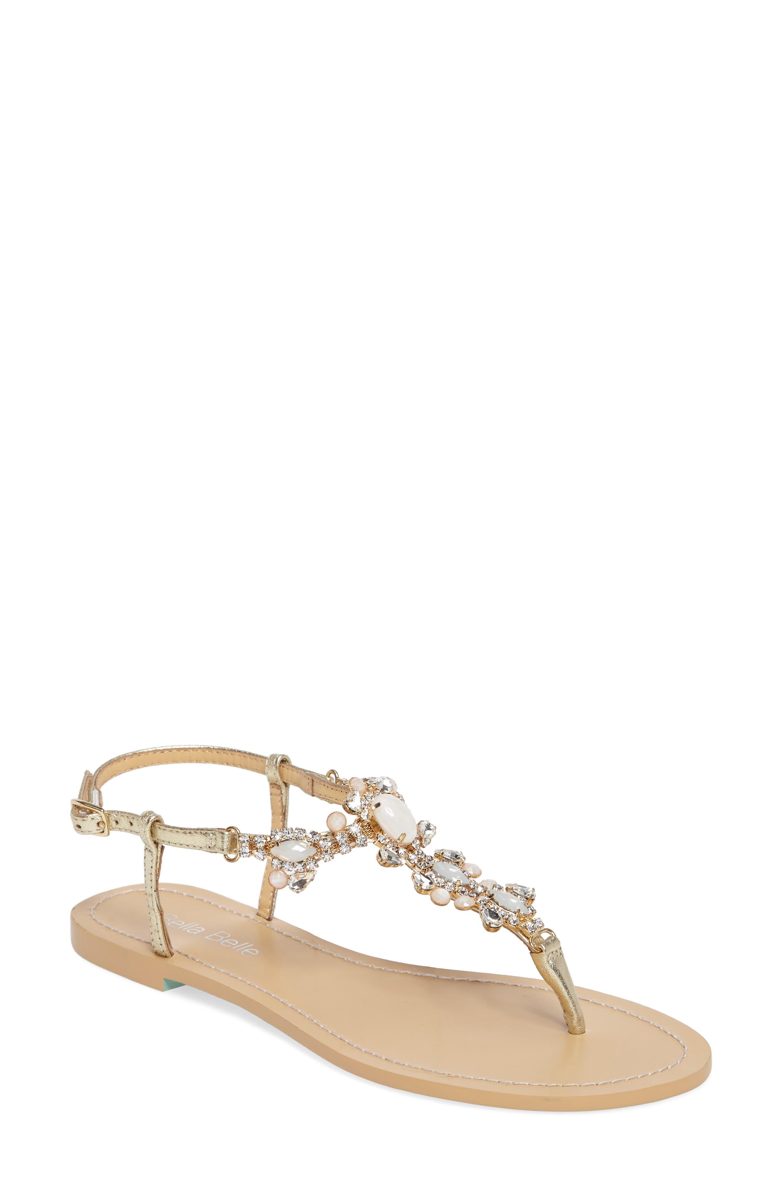 Bella Belle Luna Embellished T-Strap Sandal (Women)