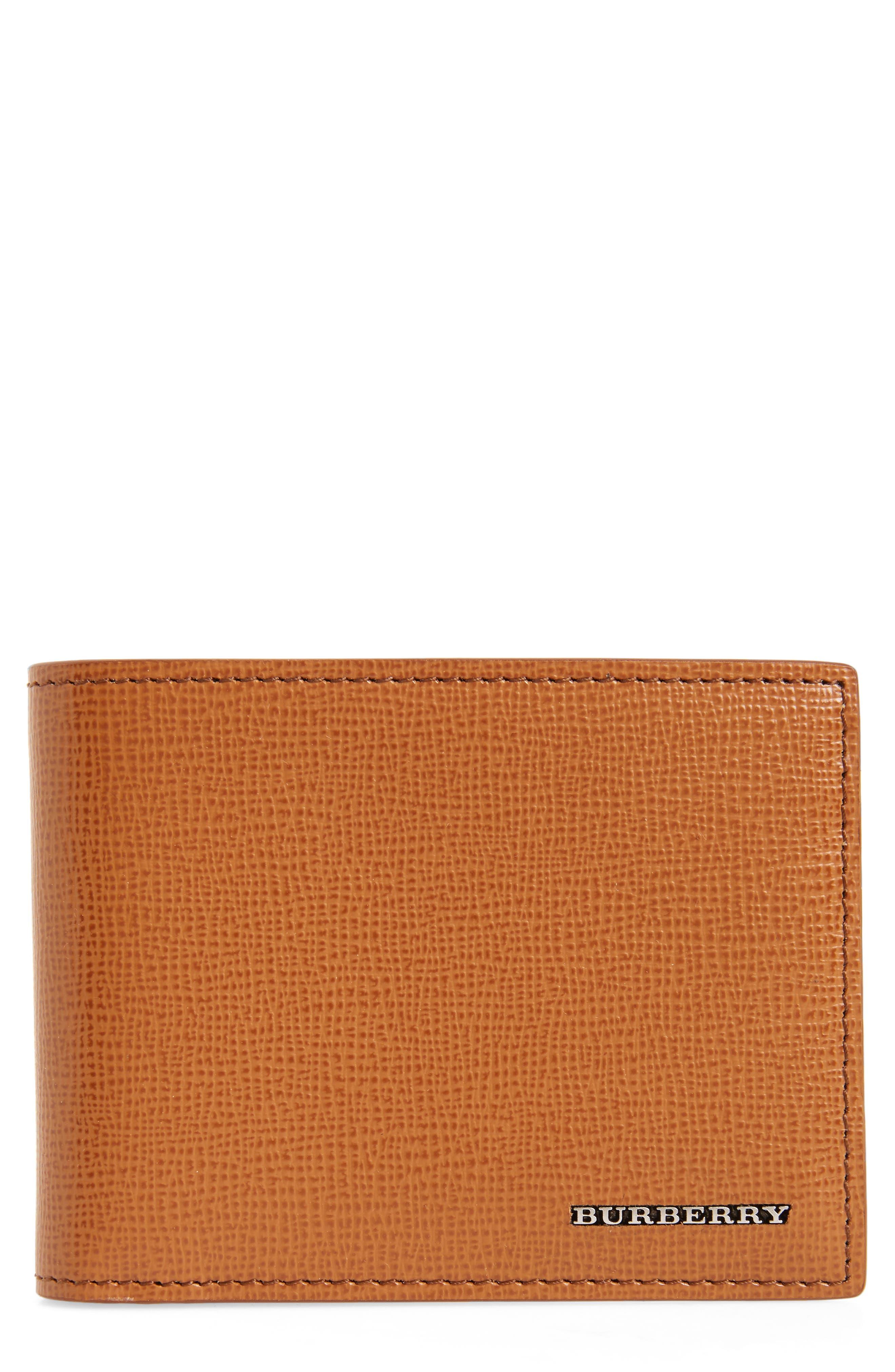 Leather Bifold Wallet,                             Main thumbnail 1, color,                             Tan