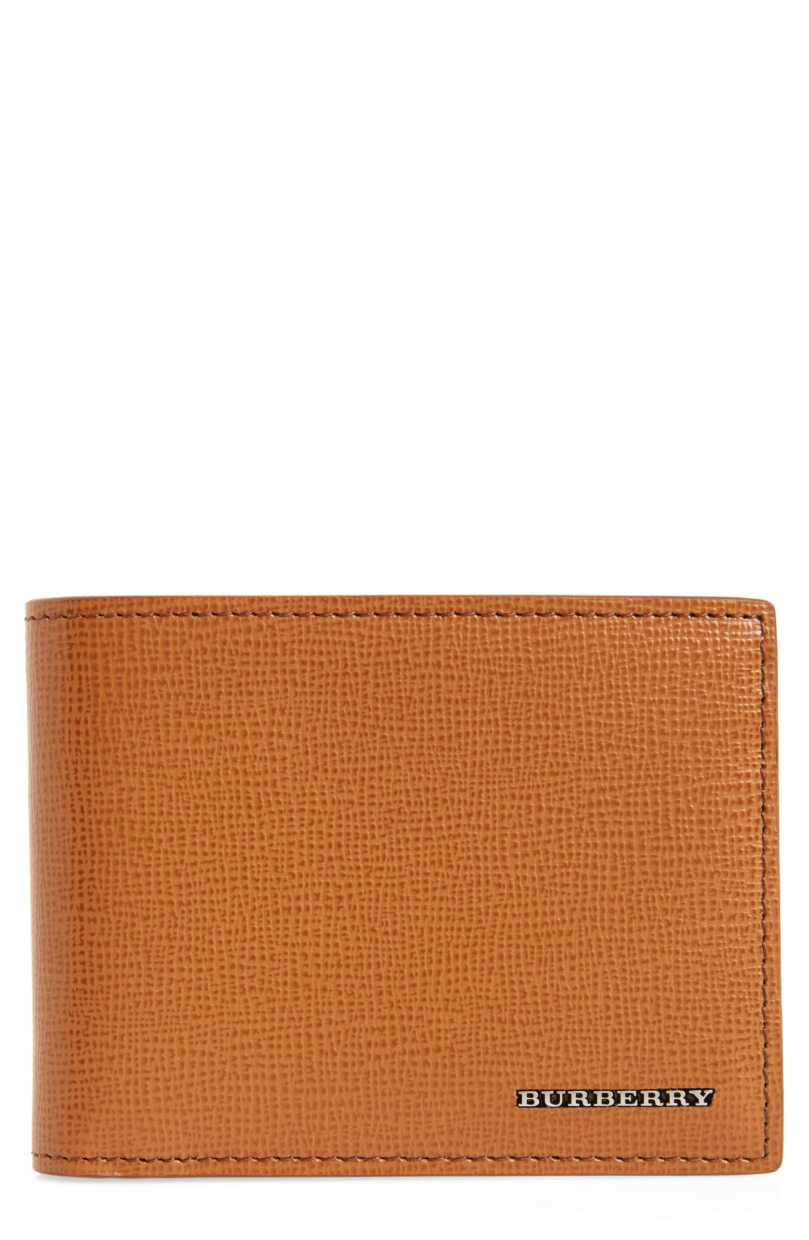Leather Bifold Wallet,                         Main,                         color, Tan