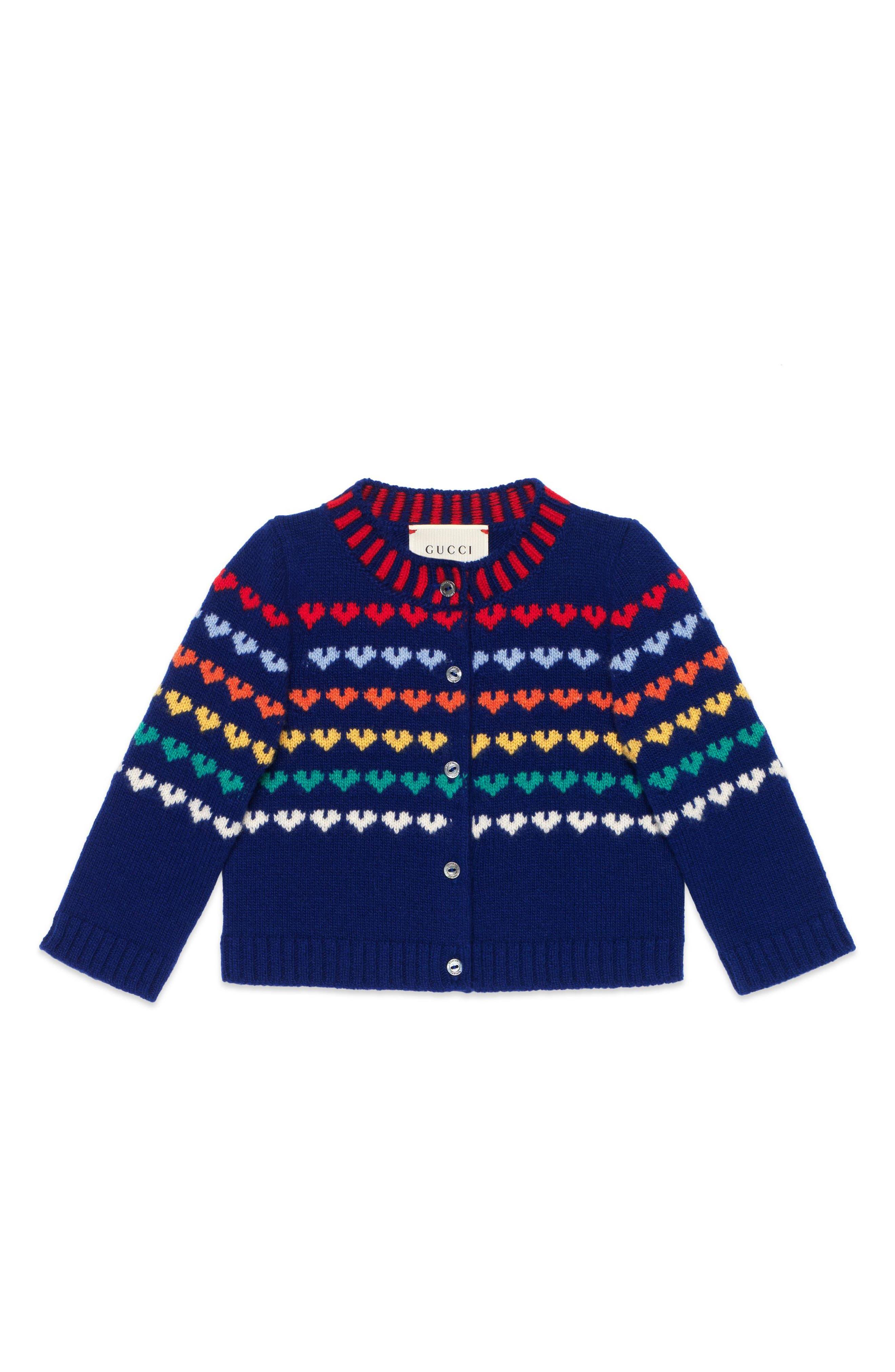 Gucci Logo Wool & Cashmere Cardigan (Baby Girls)