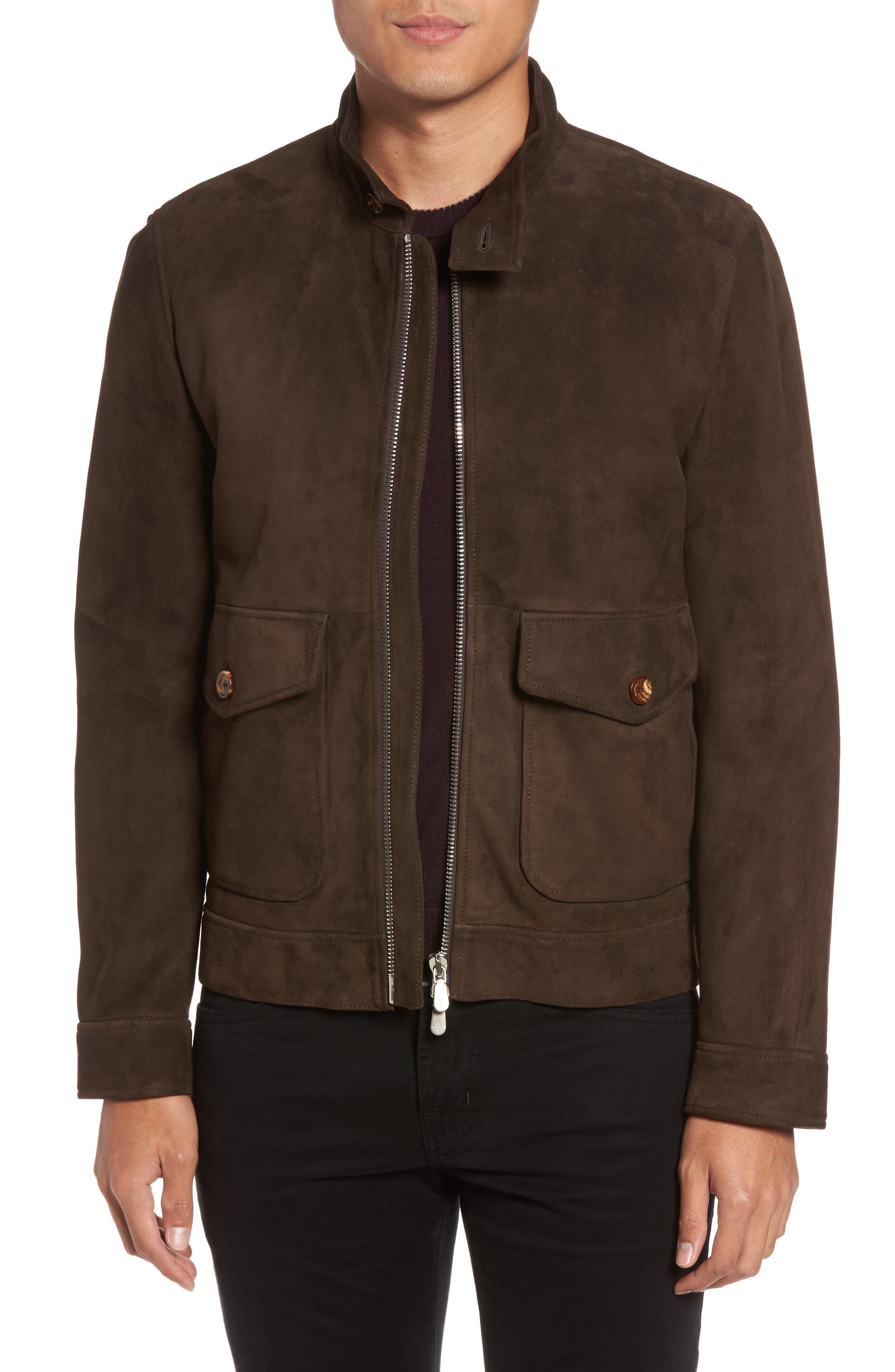 Main Image - Eleventy Suede Jacket