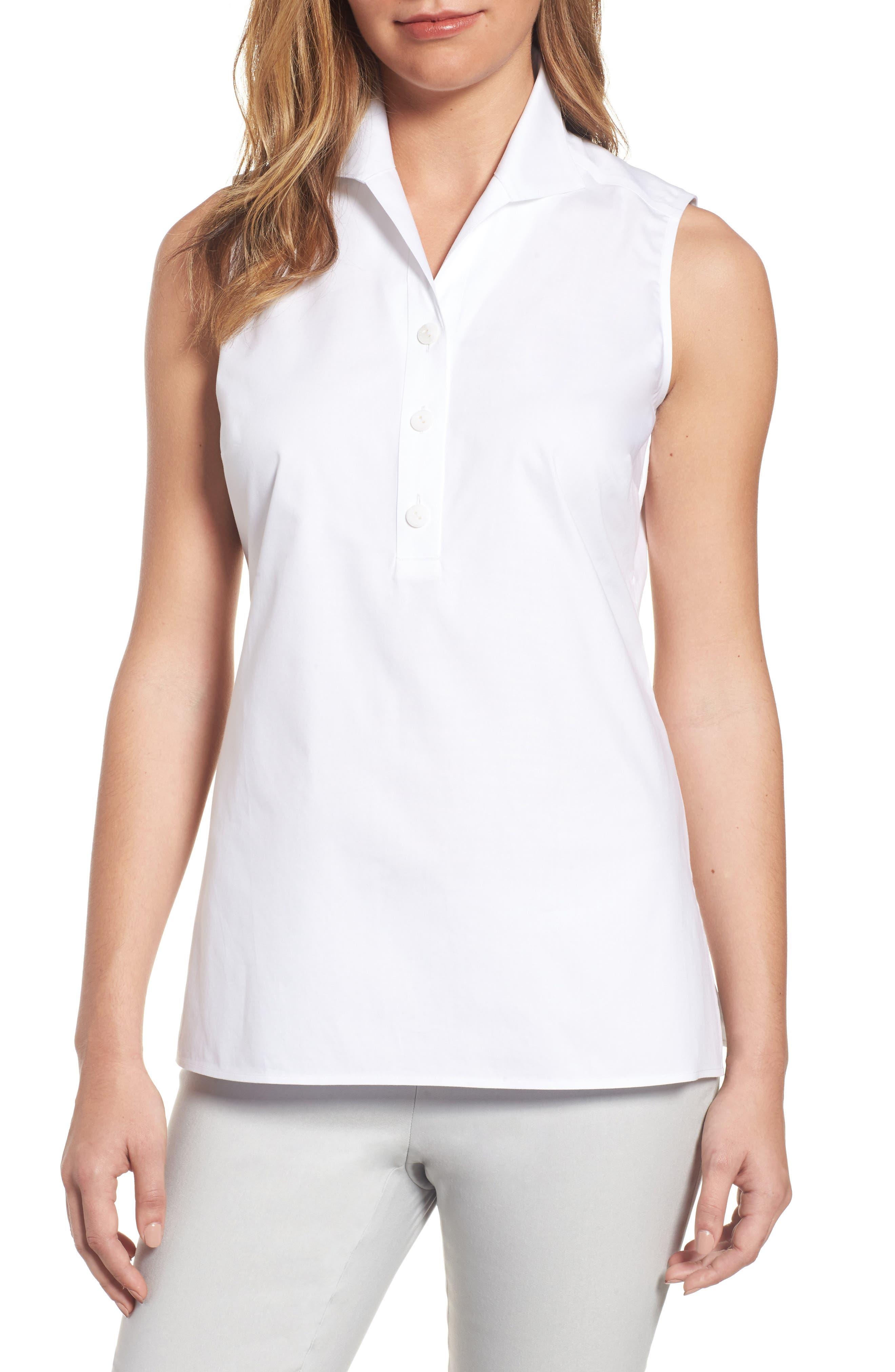 Dani Button Back Shirt,                         Main,                         color, White