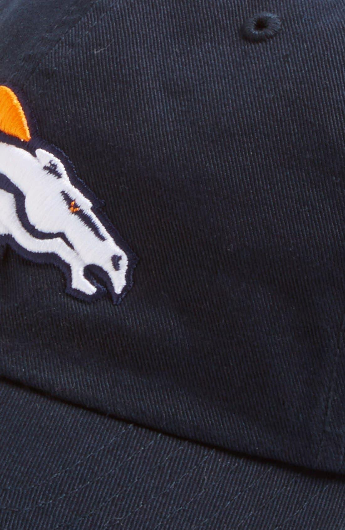 'Denver Broncos - Clean Up' Cap,                             Alternate thumbnail 2, color,                             Navy