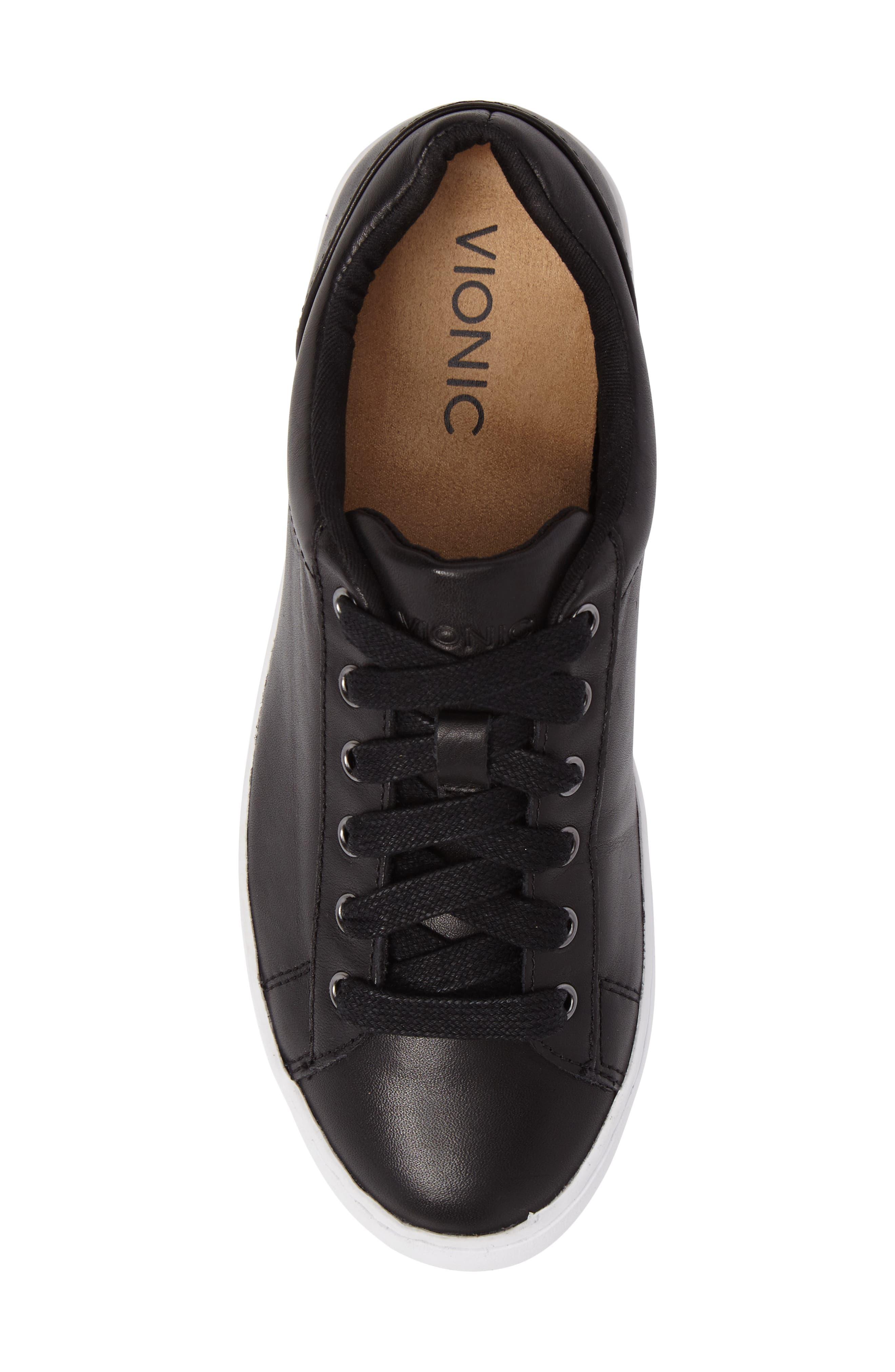 Splendid Syra Sneaker,                             Alternate thumbnail 5, color,                             Black Leather